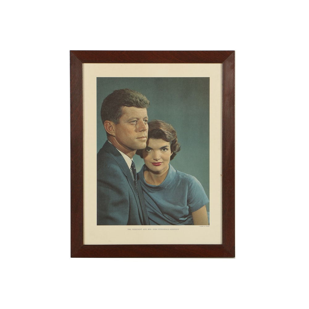 """Offset Lithograph on Paper """"The President and Mrs. John Fitzgerald Kennedy"""""""