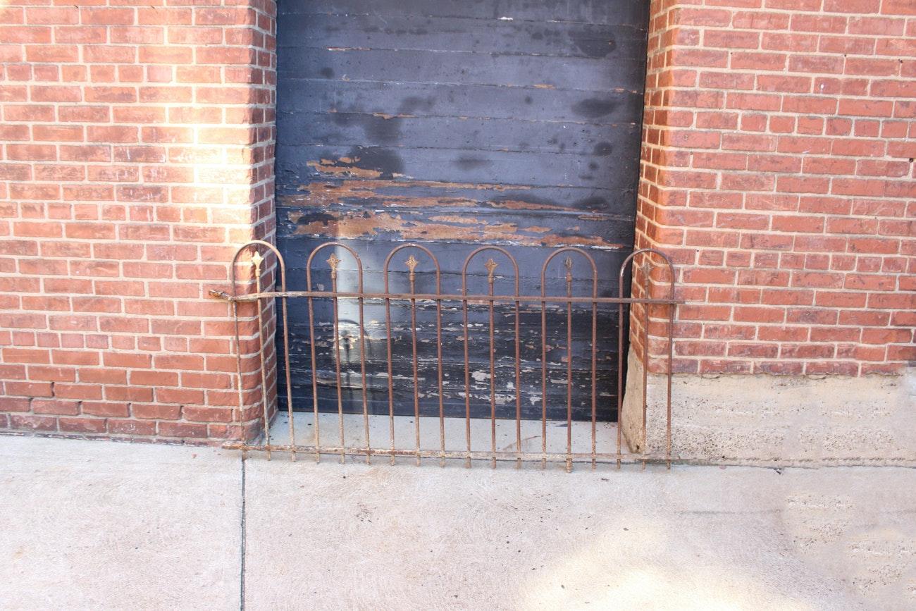 Antique Wrought Iron Garden Fence Segment