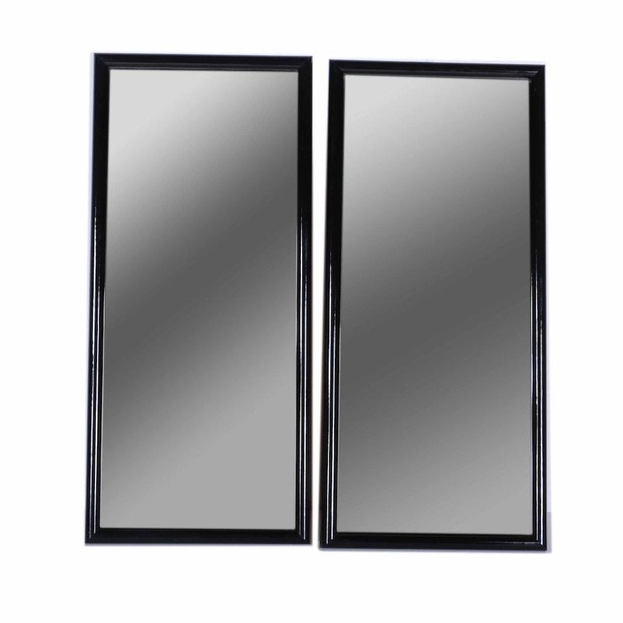 838ca8dfafd Pair of Black Framed Harvard Square Art Centre Wall Mirrors   EBTH