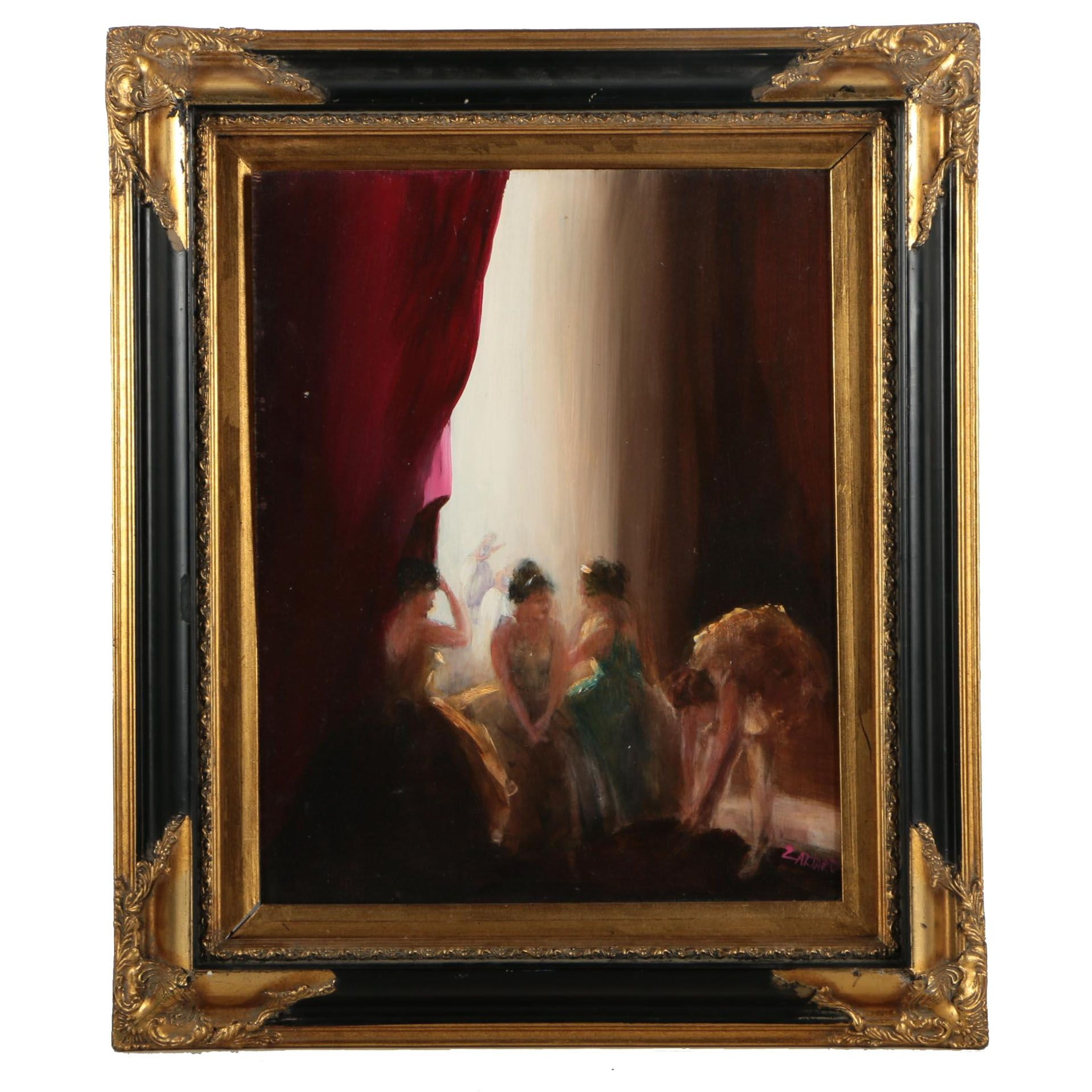 Oil Painting of Dancers on Board