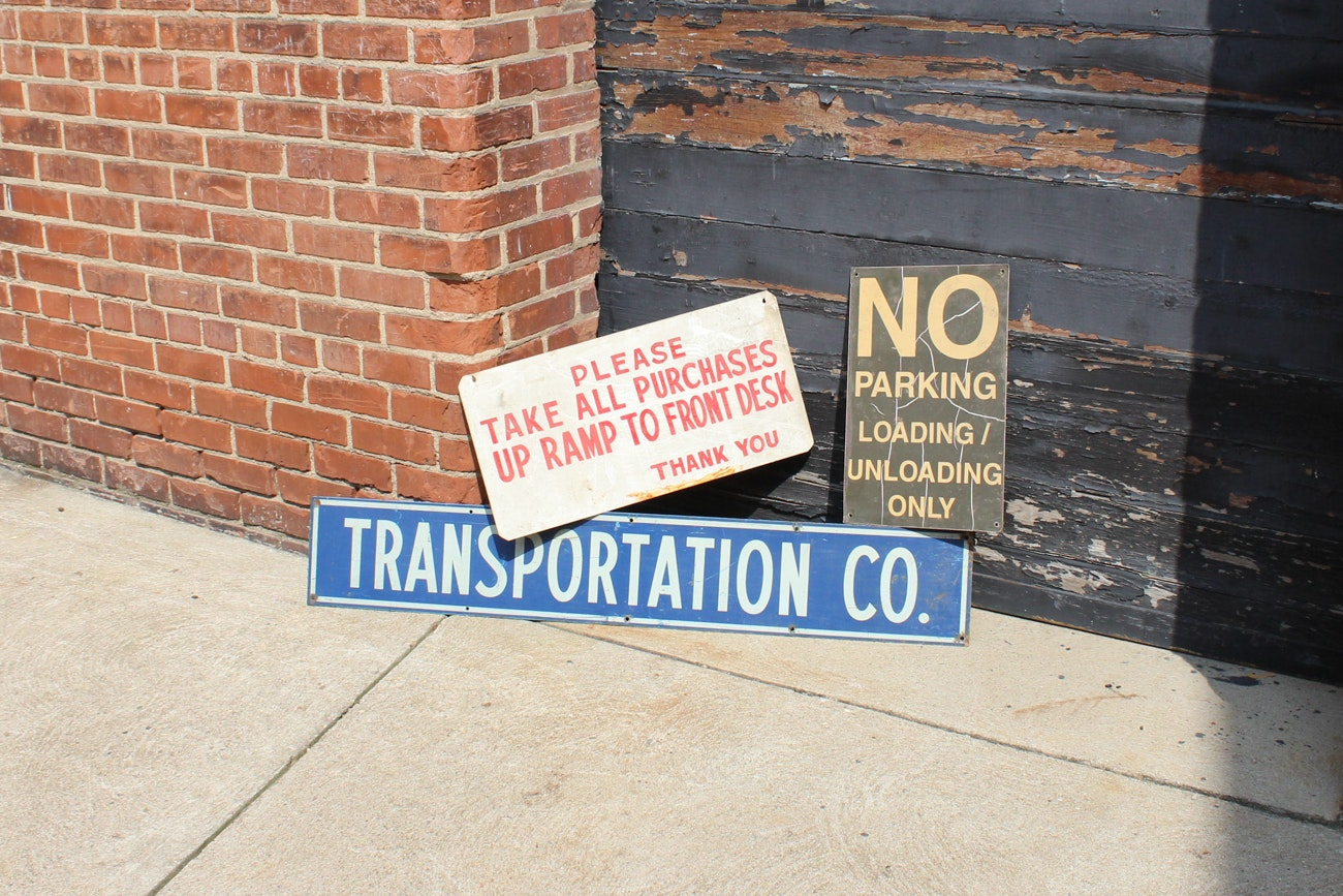 Three Vintage Signs