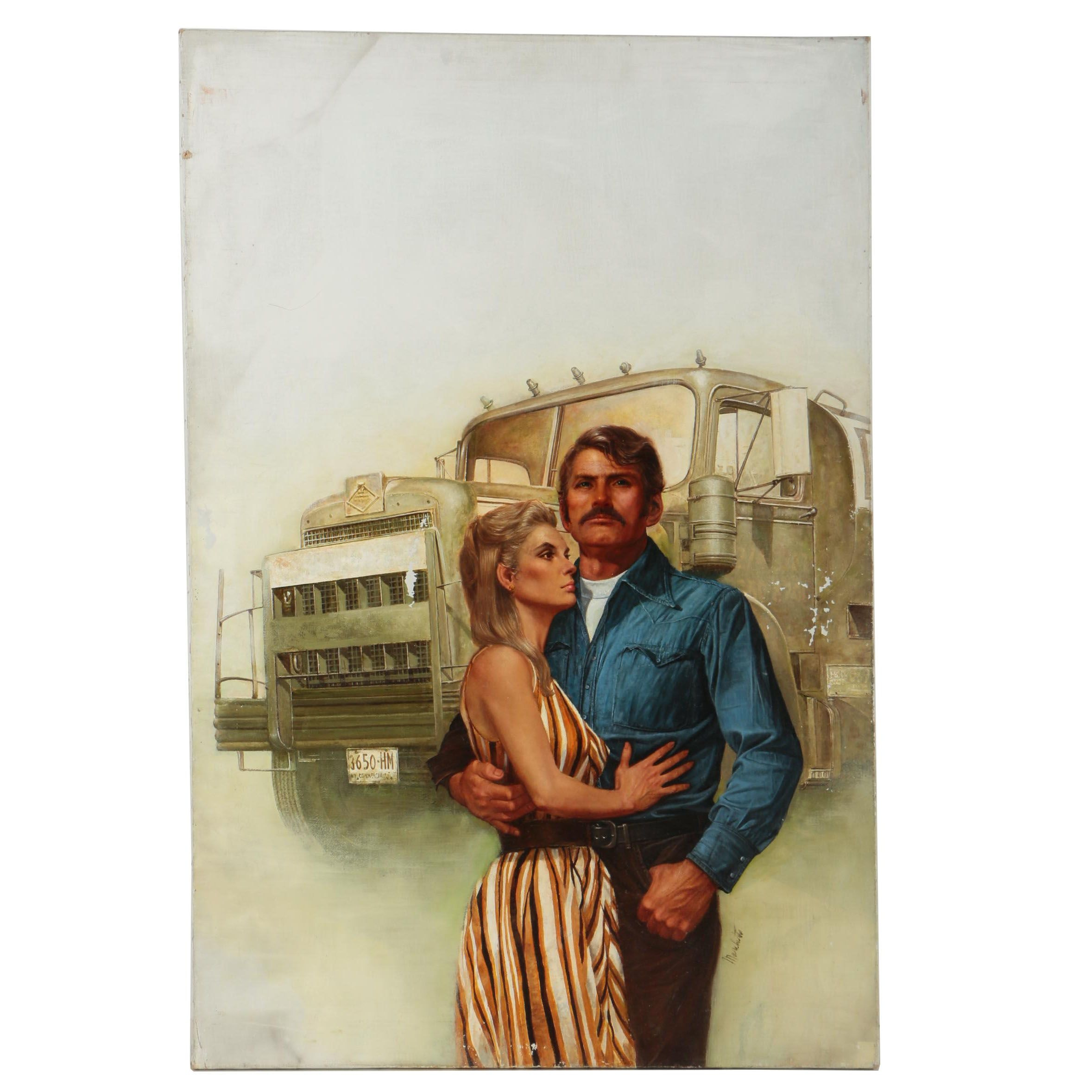 Lou Marchetti Oil Painting of a Couple