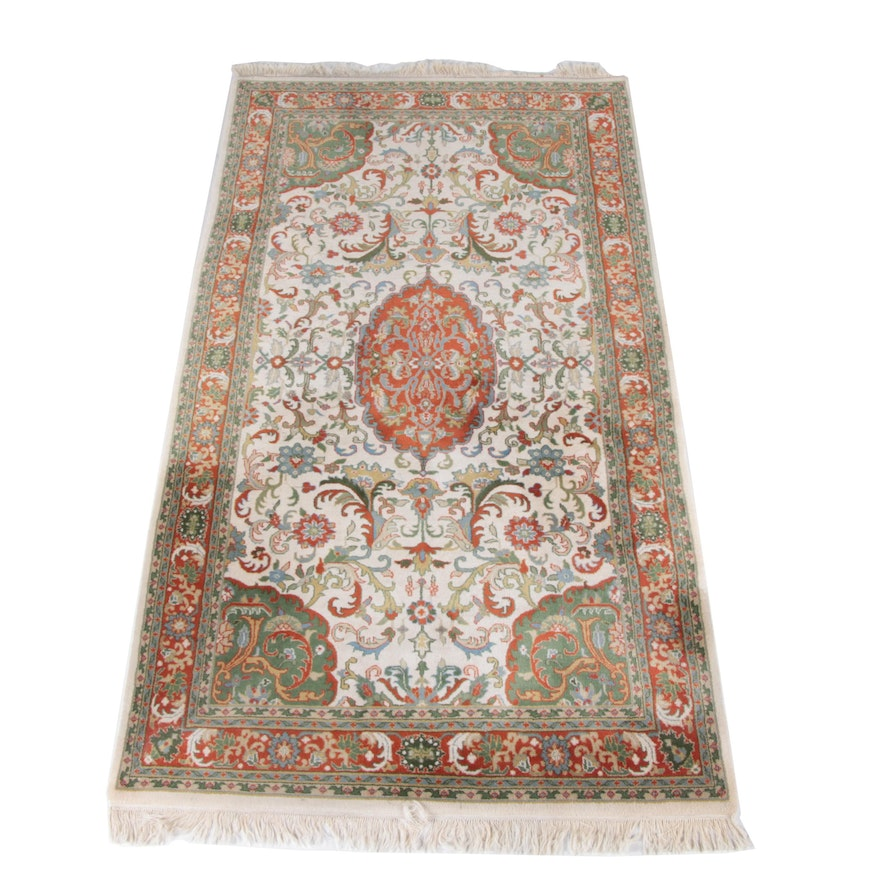 Hand Knotted Persian Wool Area Rug Ebth: Hand Knotted Indian Agrippa Wool Area Rug : EBTH