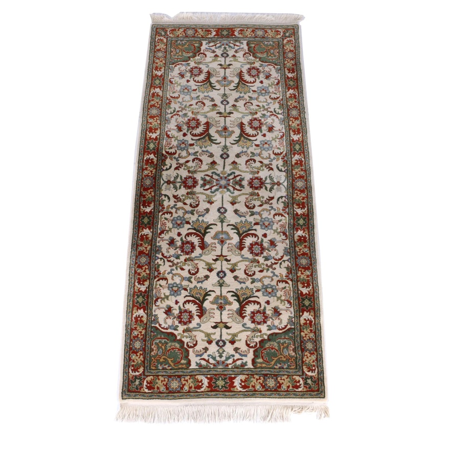 Hand Knotted Persian Wool Area Rug Ebth: Hand Knotted Indian Agrippa Wool Area Rug