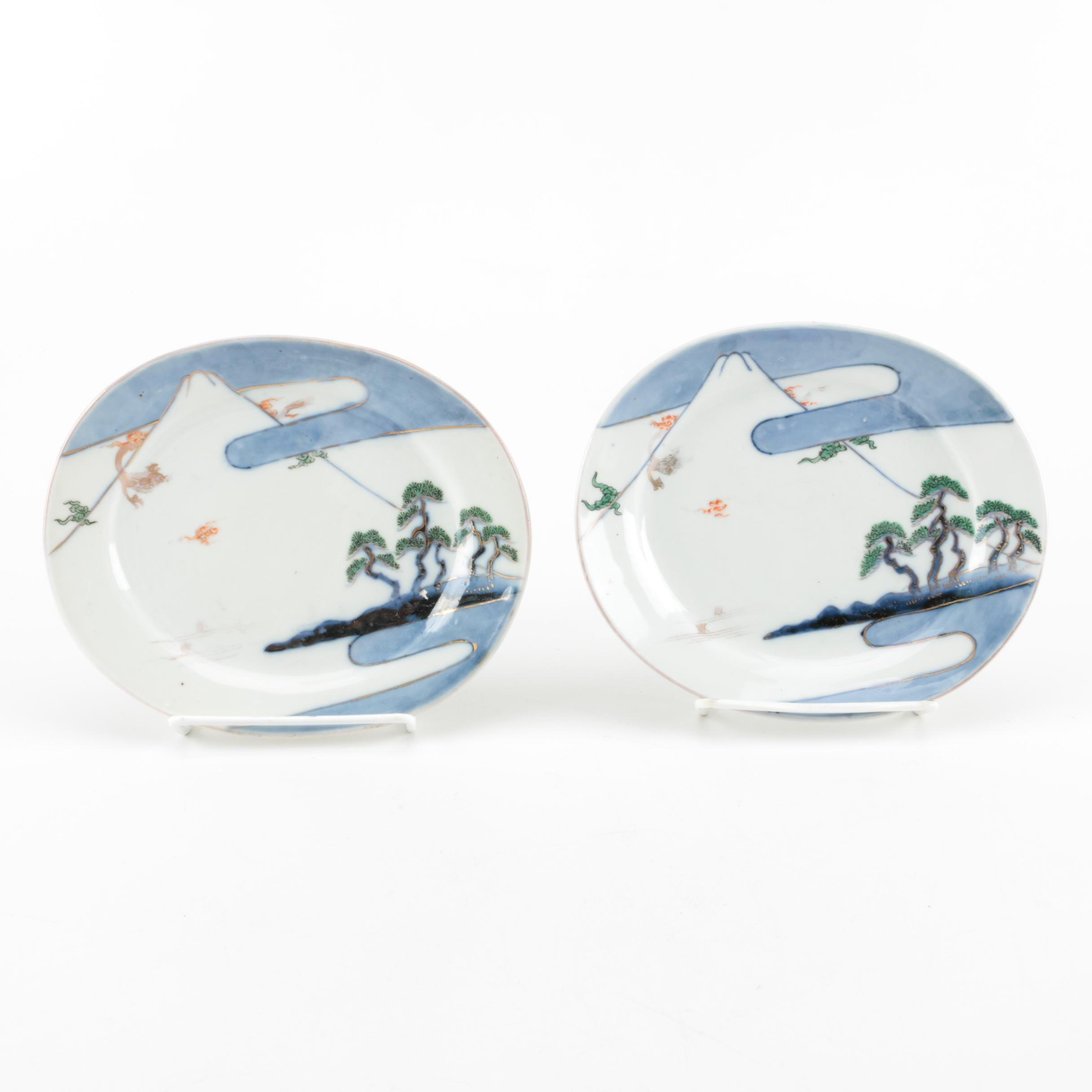 Asian Themed Porcelain Plates
