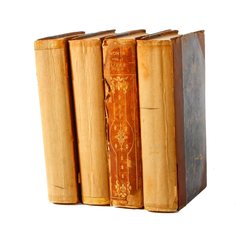 """Assorted Four Volumes of """"Plutarch's Complete Works"""""""