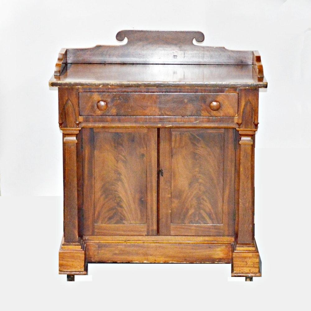 Antique Empire Mahogany Wash Stand
