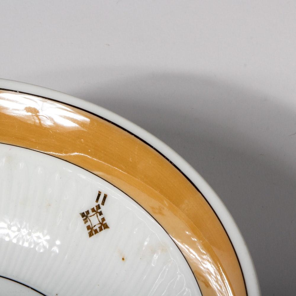 Vintage Bavarian Porcelain Lusterware Berry Set : EBTH