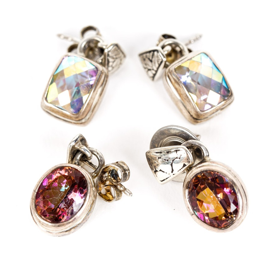 earrings oval mystic shape topaz products silver designer sterling genuine