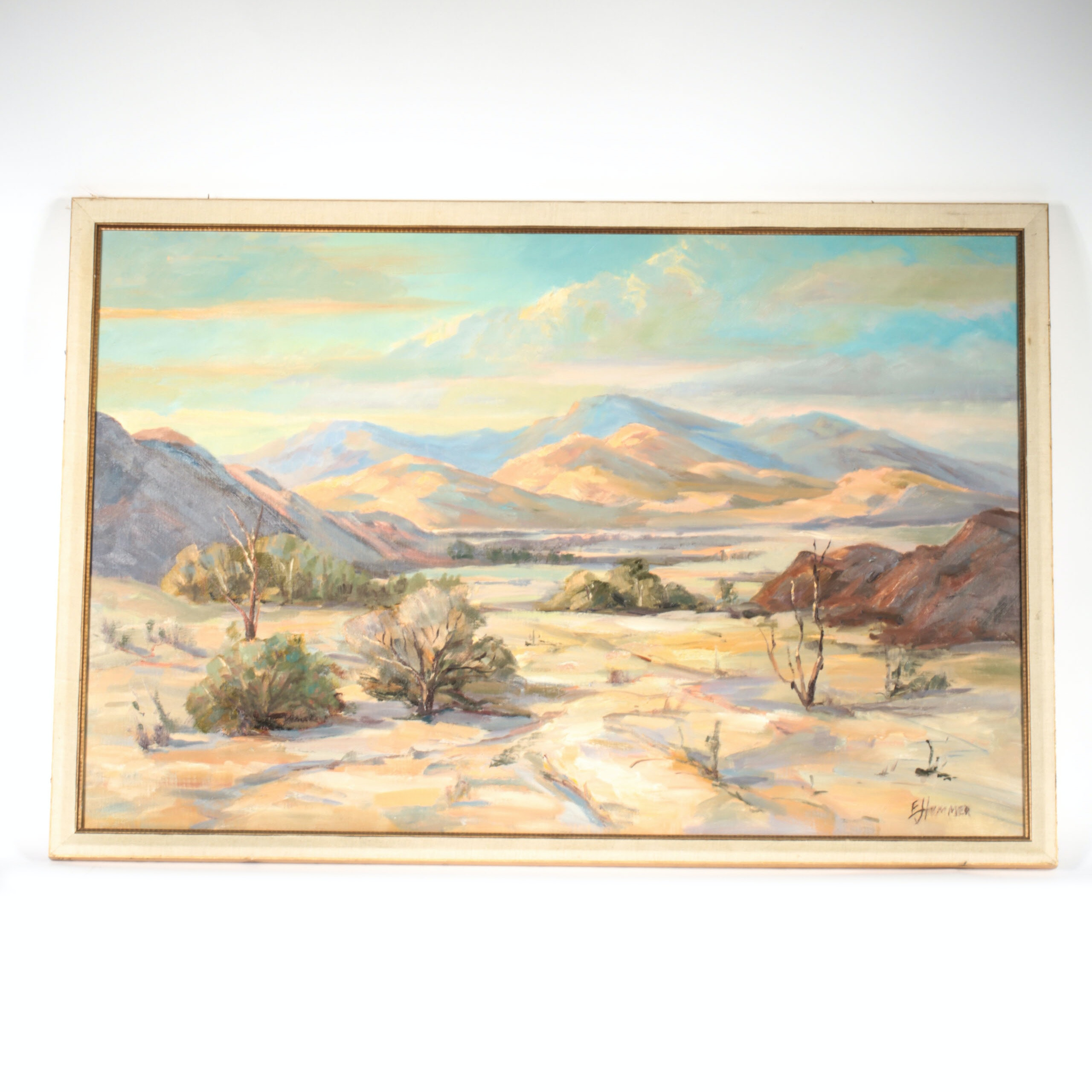 "Ed J Hummer Signed Oil Painting ""Southwest Morning"""