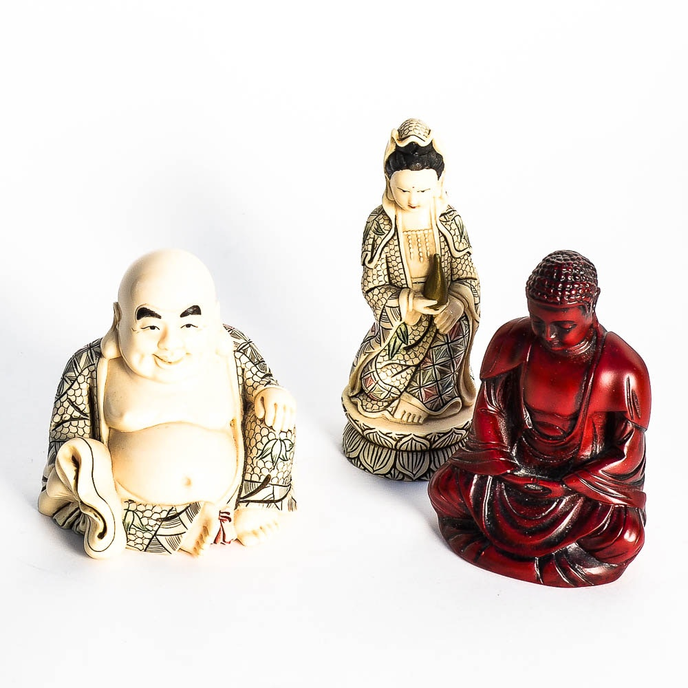 Assortment of Asian Inspired Figurines
