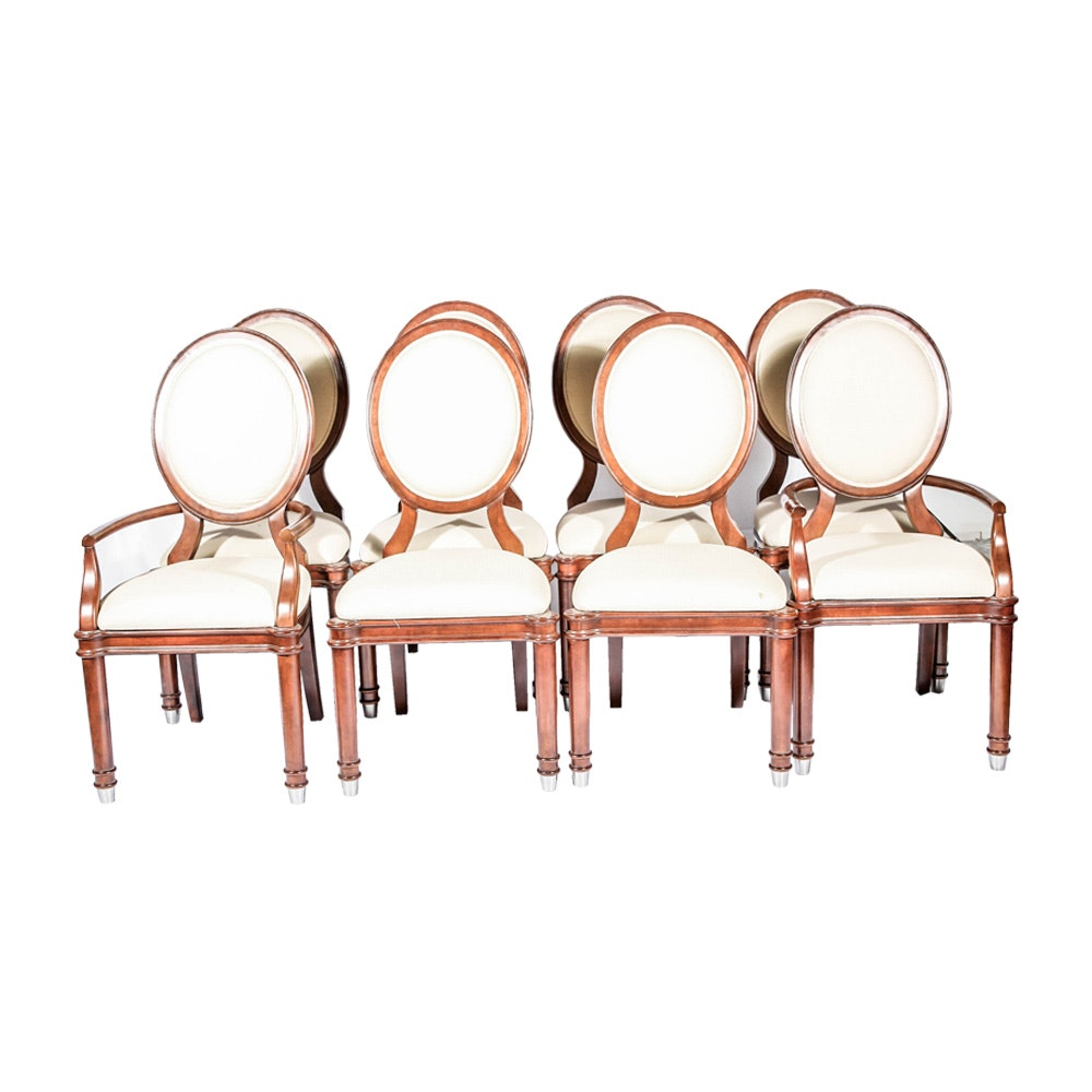 Louis Xvi Inspired Round Back Dining Chairs Ebth