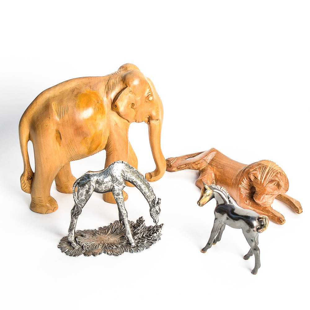 Assortment of Animal Figurines including Reed and Barton
