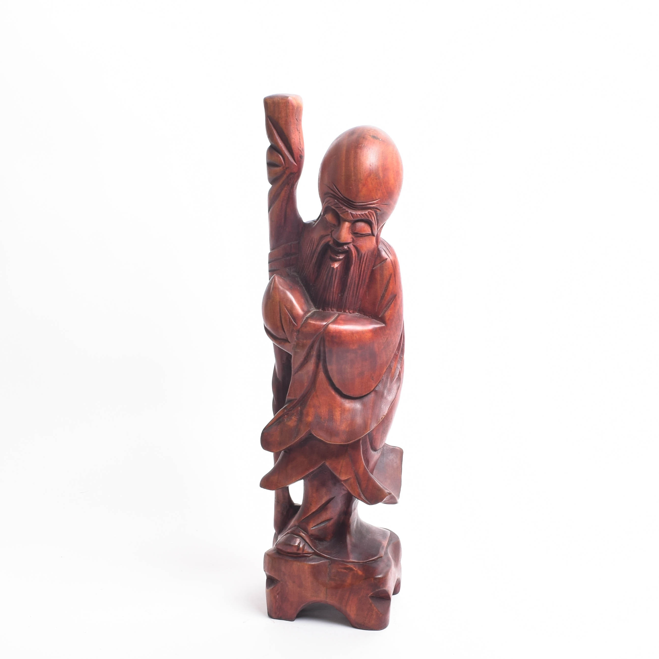 Chinese Rosewood Figurine of Shou Xin Gong