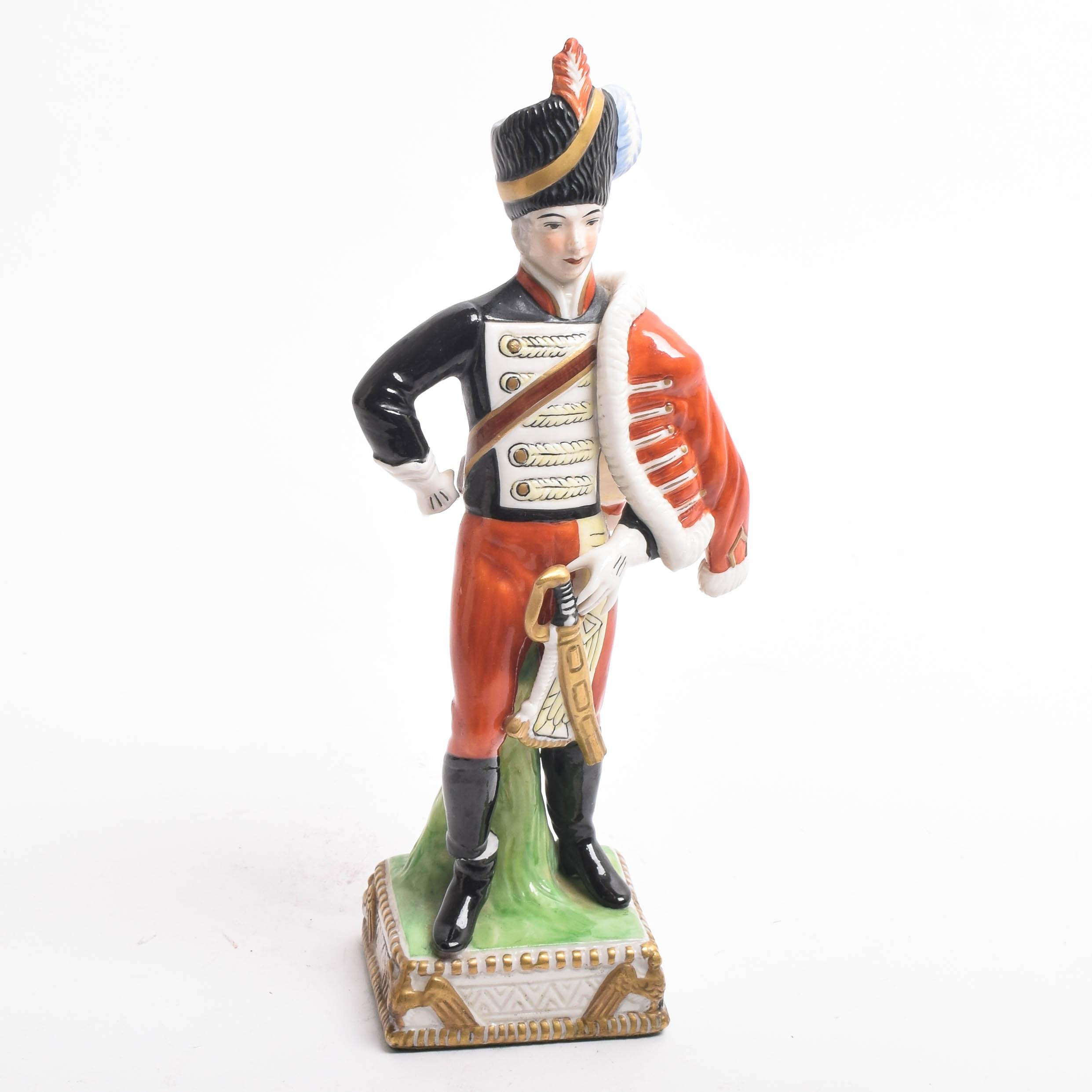 Porcelain Napoleonic Soldier Figurine