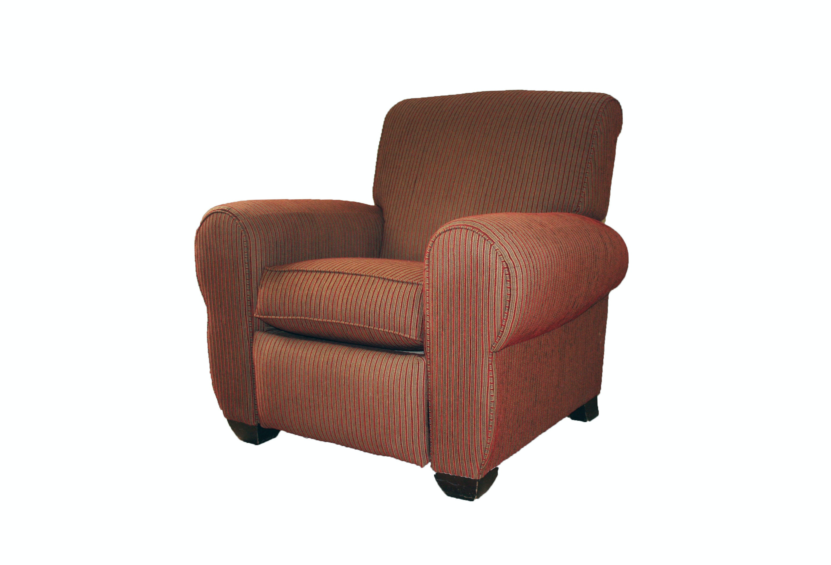 Red Striped Club Chair Recliner by La-Z-Boy