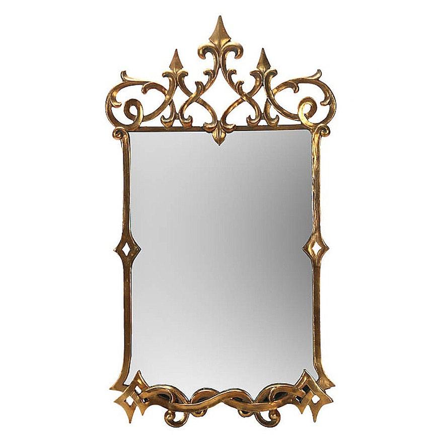 Uttermost Mirror With Ornate Fleur De Lis Frame Ebth