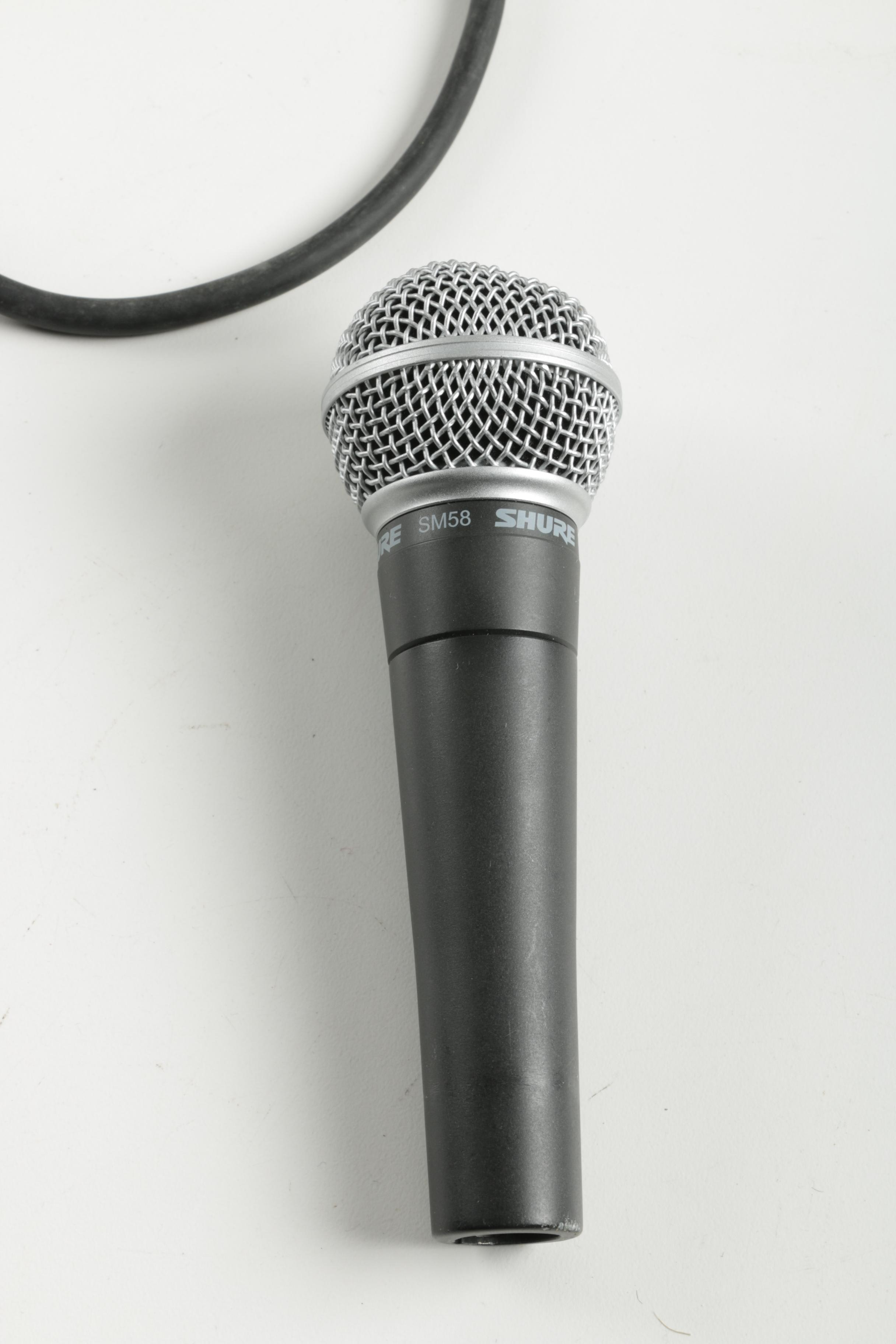 Shure SM58 Microphone and Cables