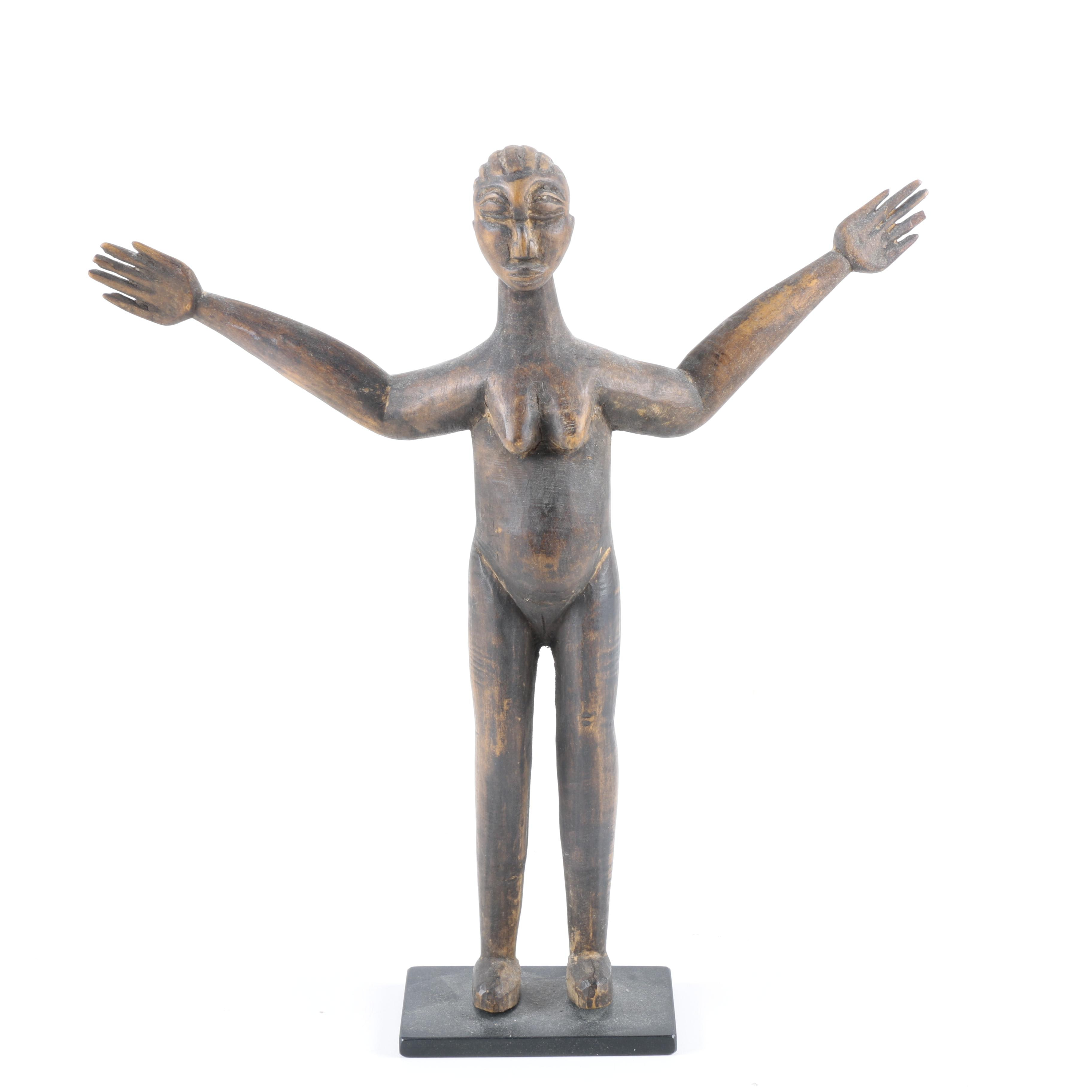 African Wood Carved Figurine