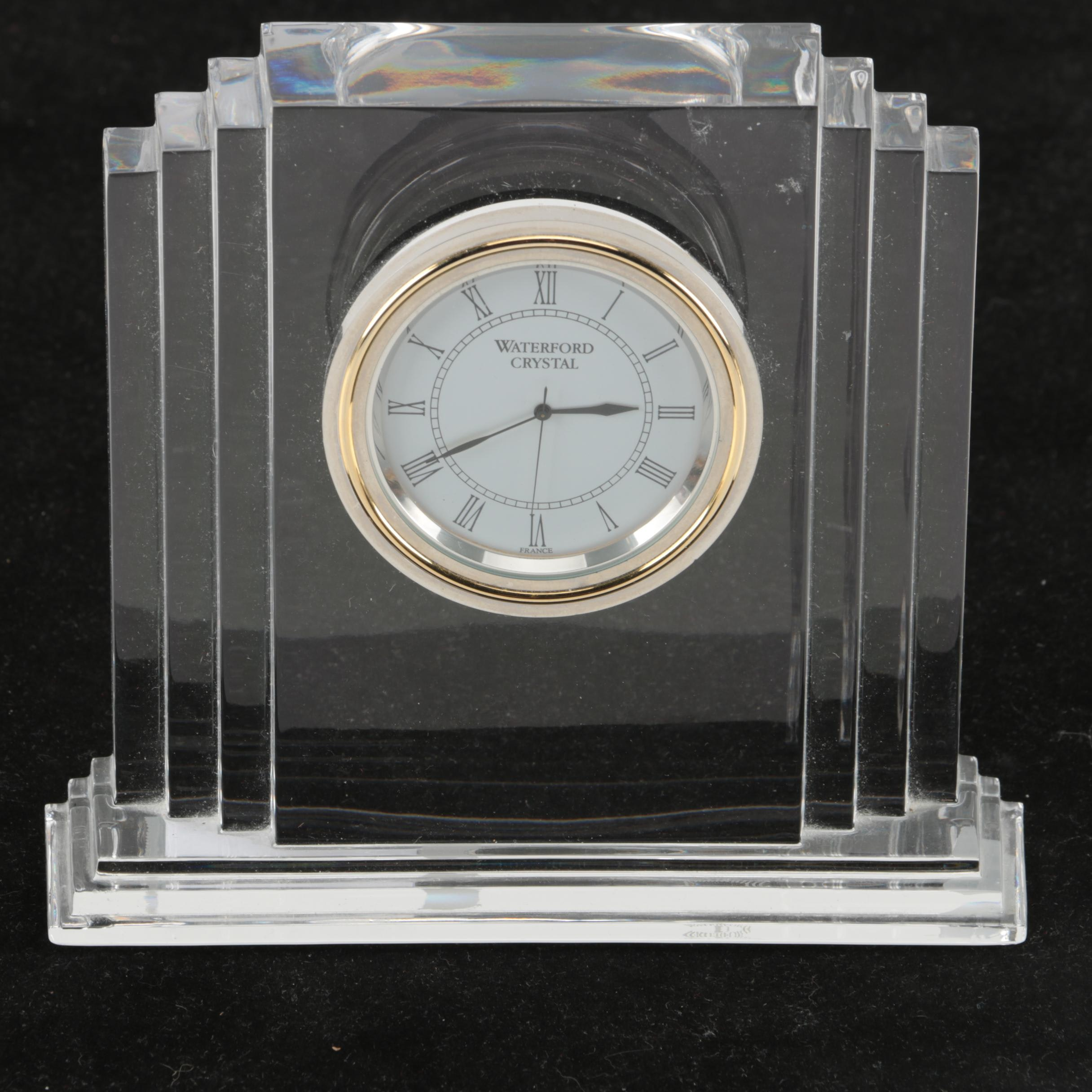 "Waterford Crystal ""Metropolitan"" Mantel Clock"