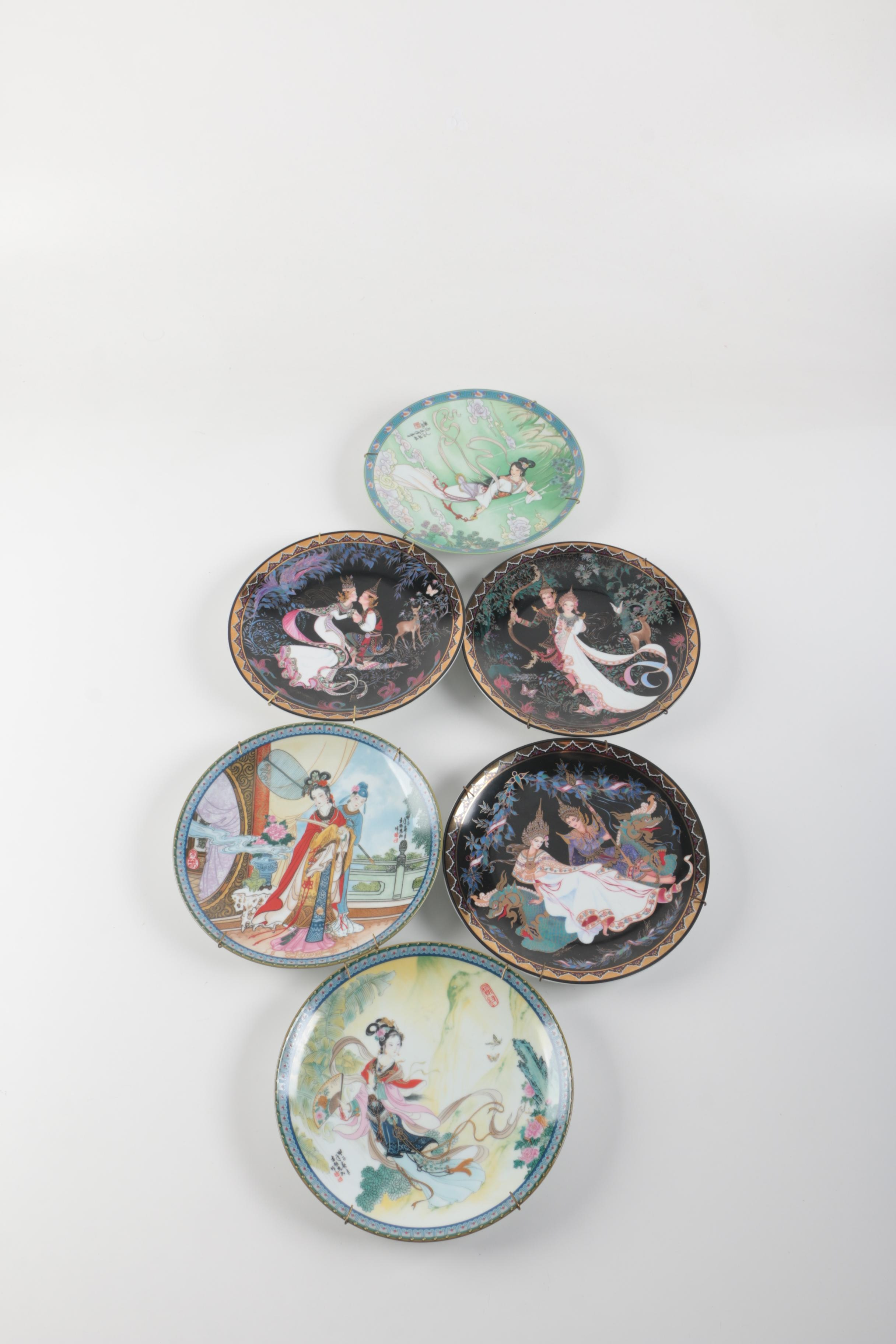 Thai and Chinese Decorative Porcelain Plates