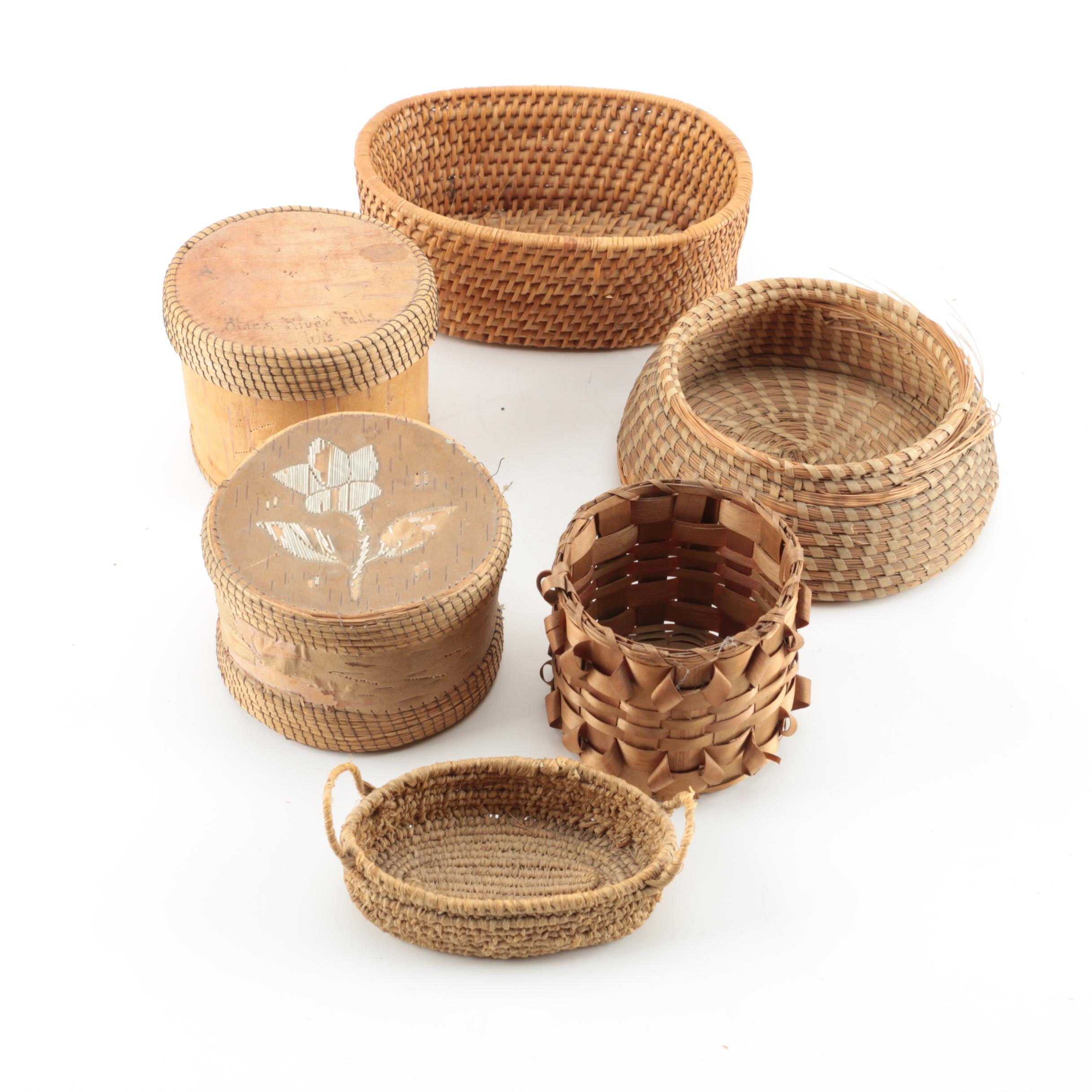 Collection of Woven Baskets