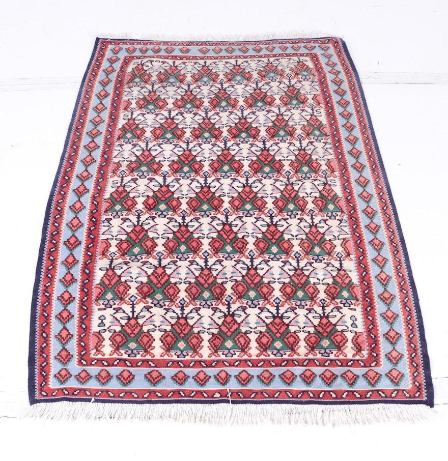 Persian Hand Woven Bakhtiari Style Wool Area Rug Ebth: Handwoven Wool Kilim Area Rug : EBTH