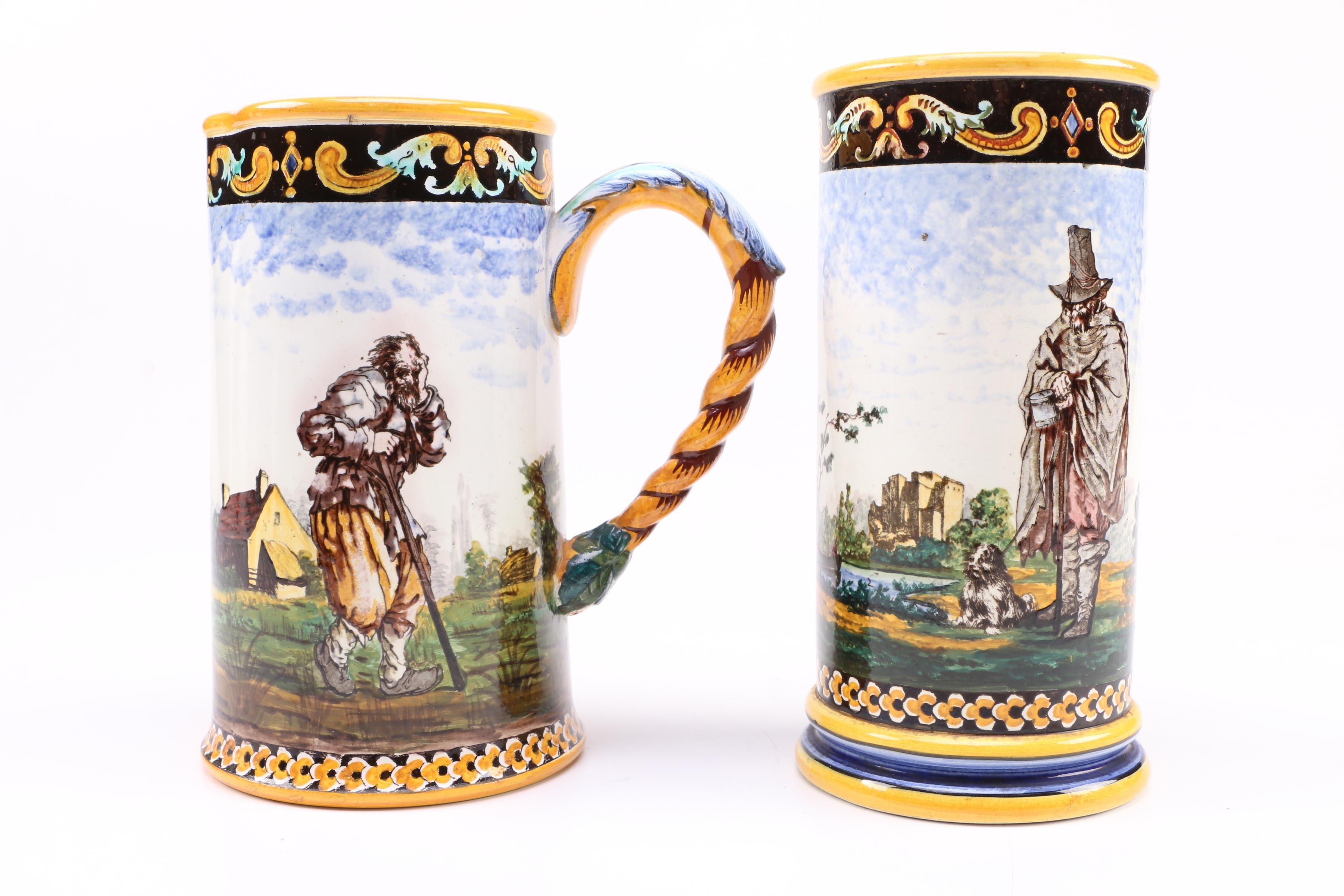 German Ceramic Vase with Pitcher