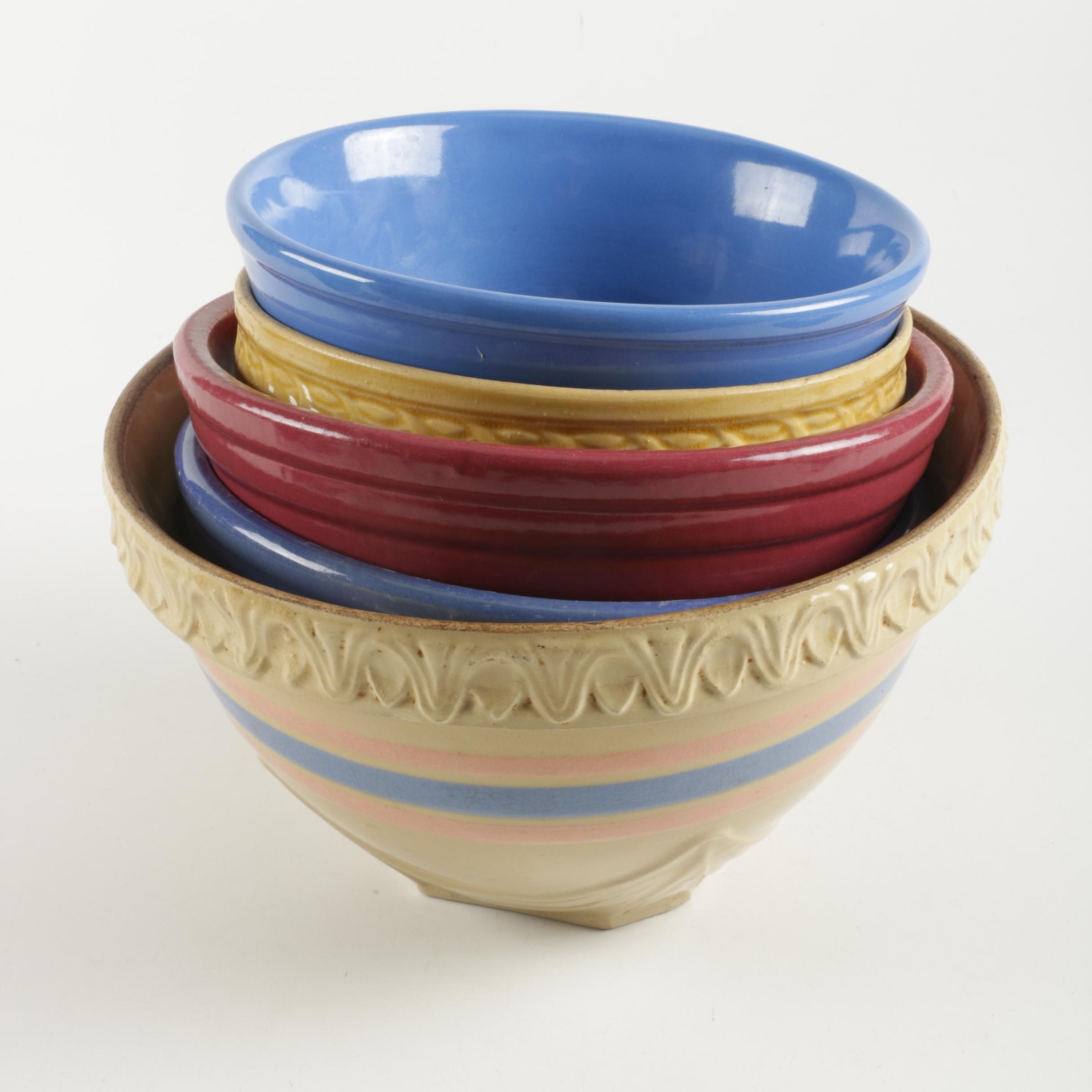 Multi-colored Ceramic Bowls including McCoy