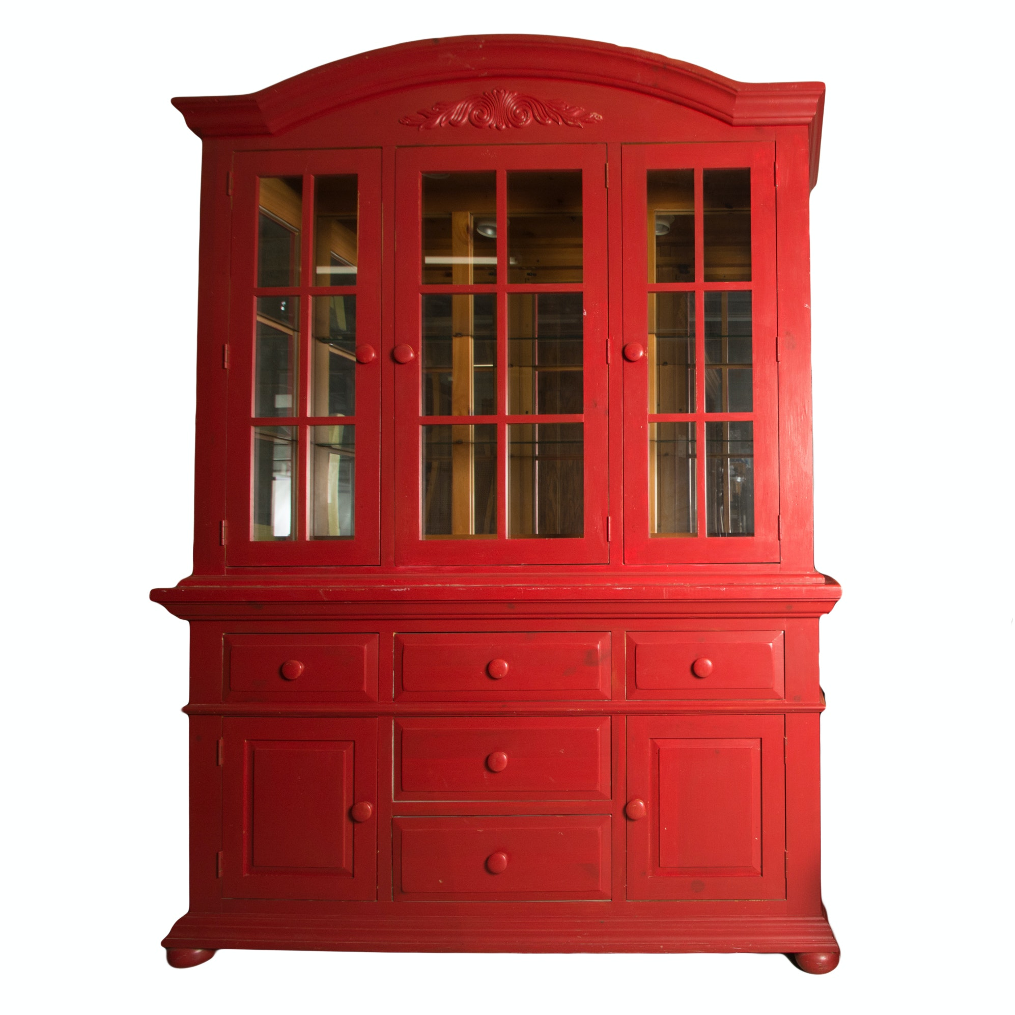 Glazed Door China Cabinet By Broyhill
