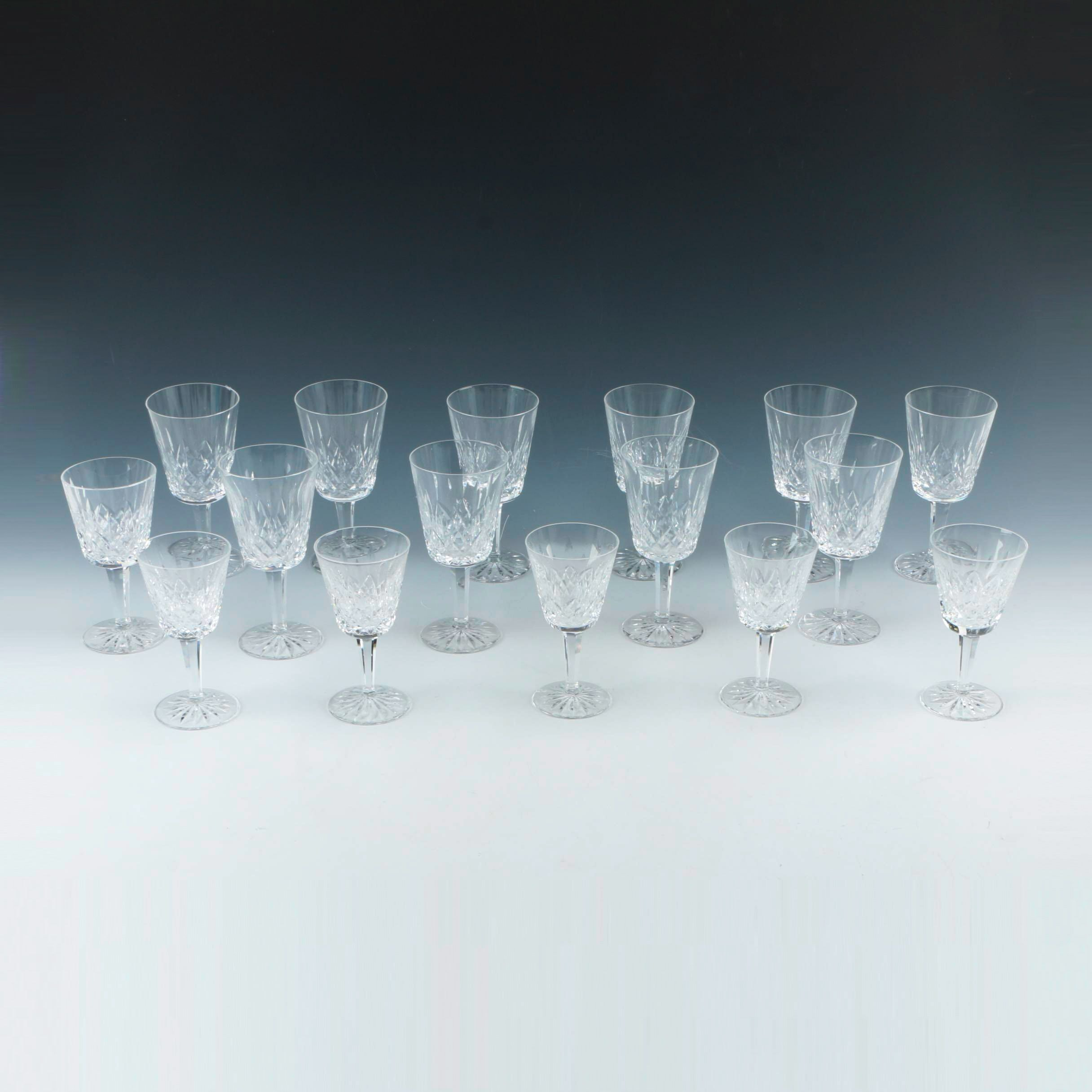 "Set Of Waterford Crystal ""Lismore"" Glasses"