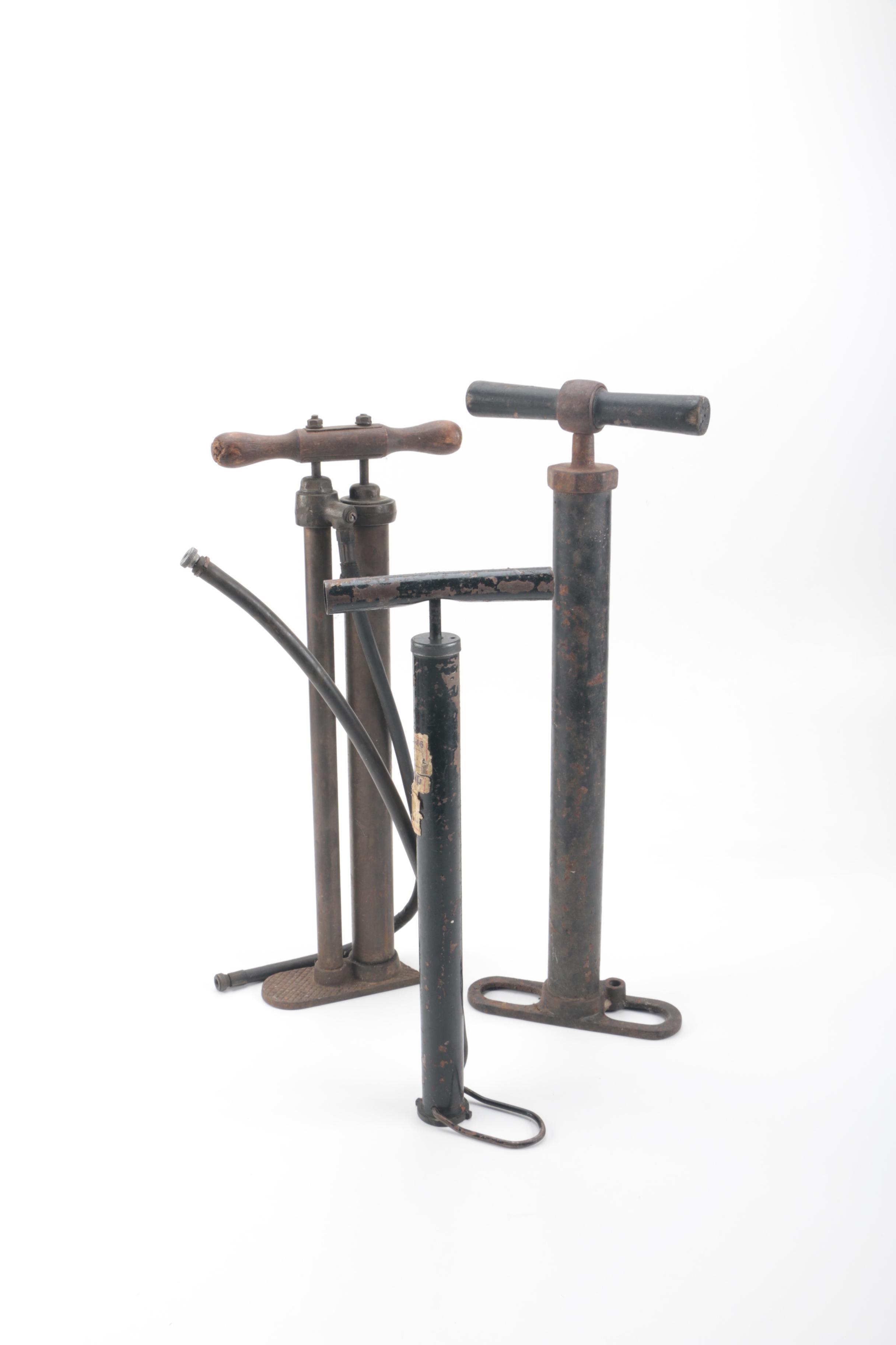 Three Vintage Air Pumps