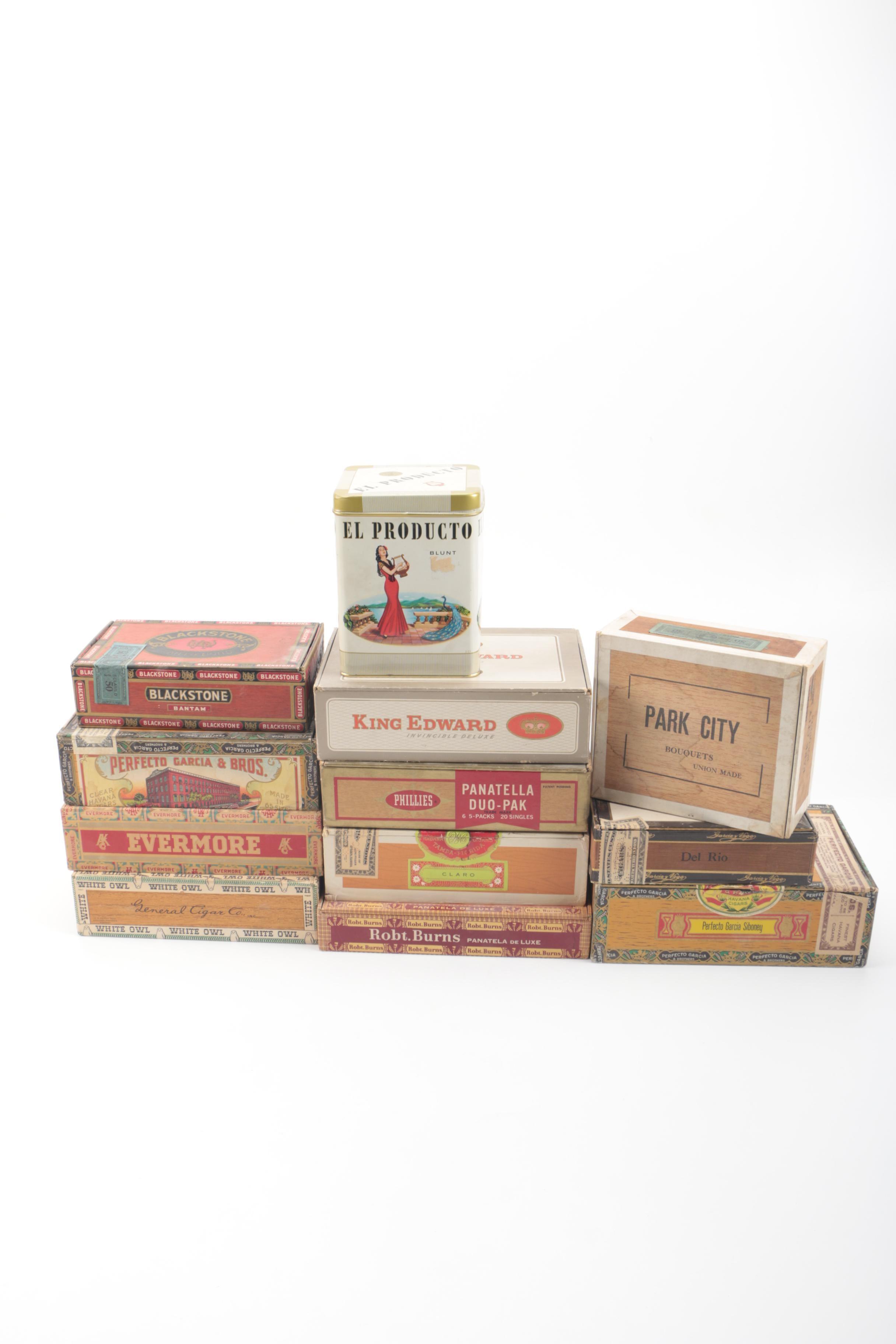 Cigar Boxes and Tins