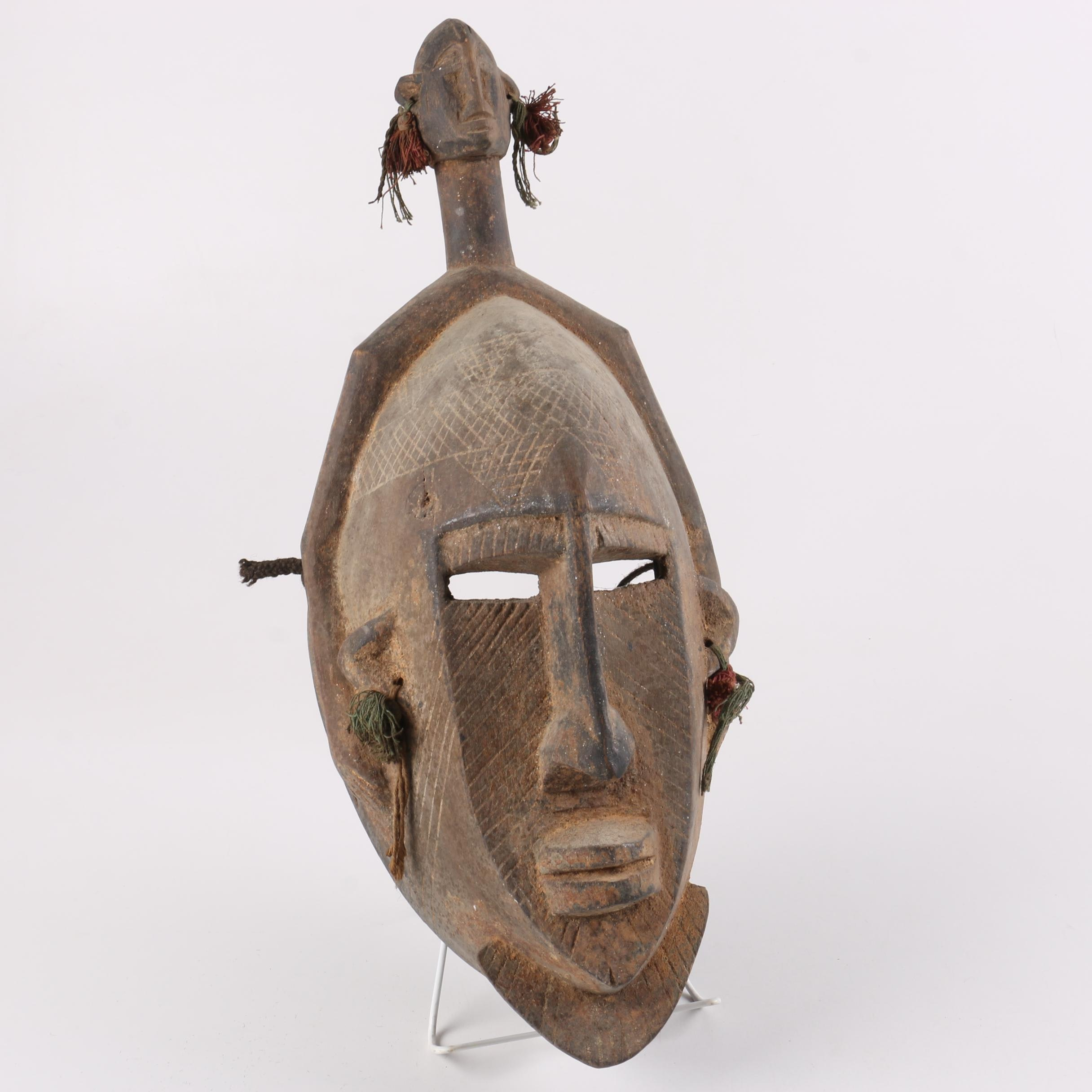 West African Style Carved Wooden Mask