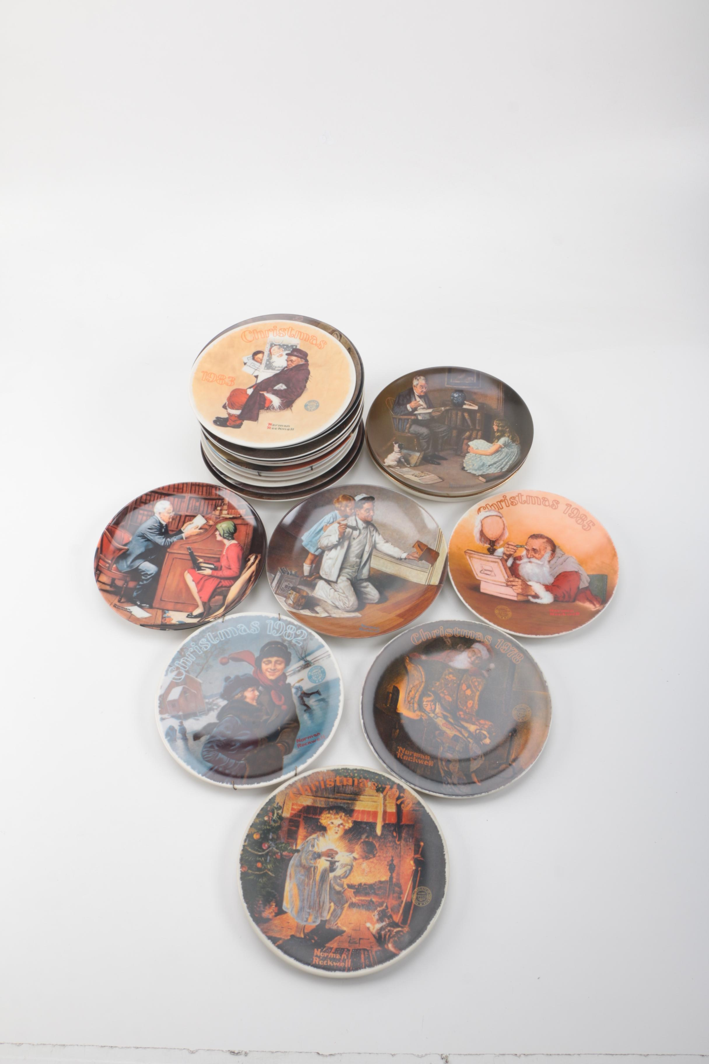 Norman Rockwell Limited Edition Collector Plates