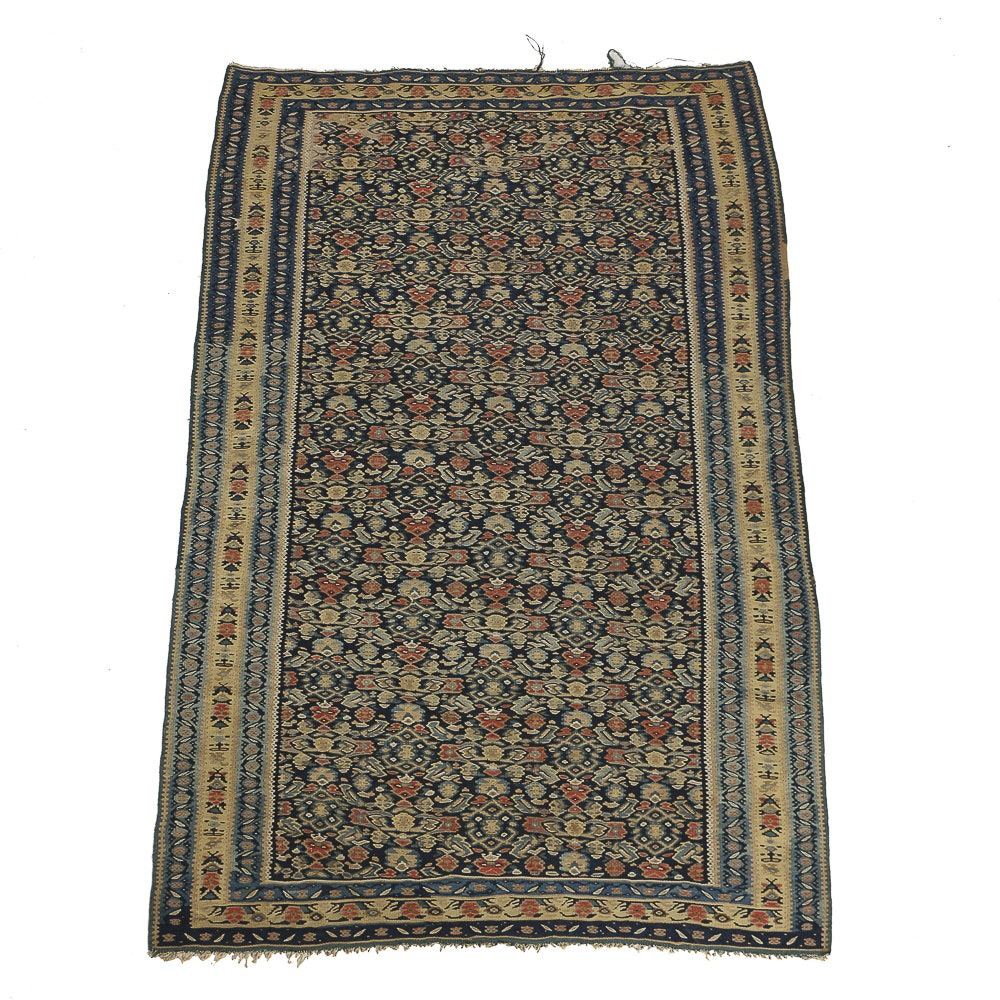 "Early  Early 20th Century Turkish Anatolian ""Herati""  Kilim"