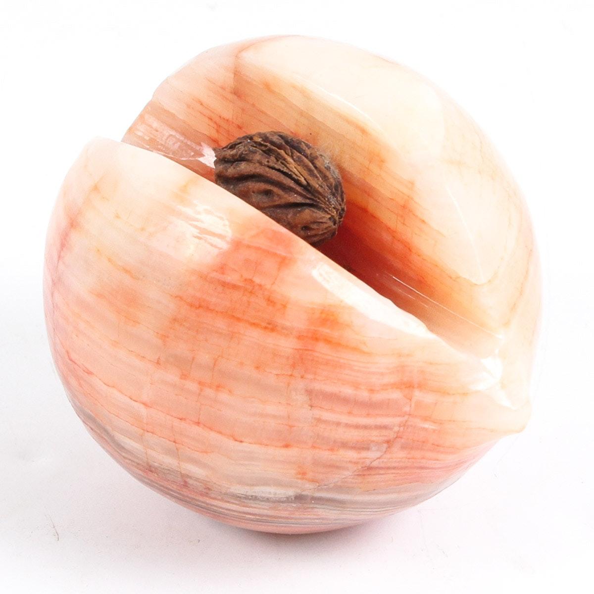 Carved Agate Peach