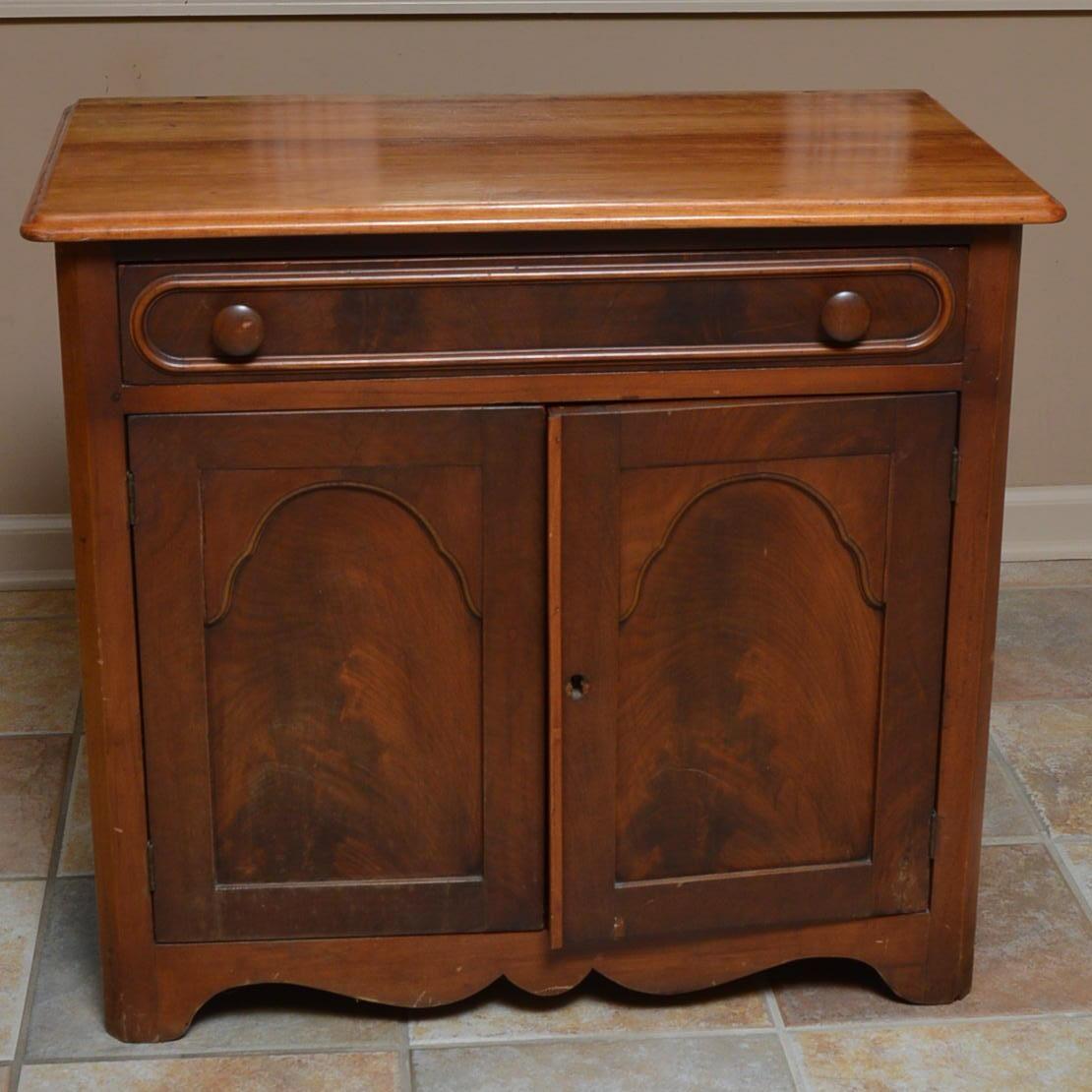 Vintage Mahogany Record Cabinet