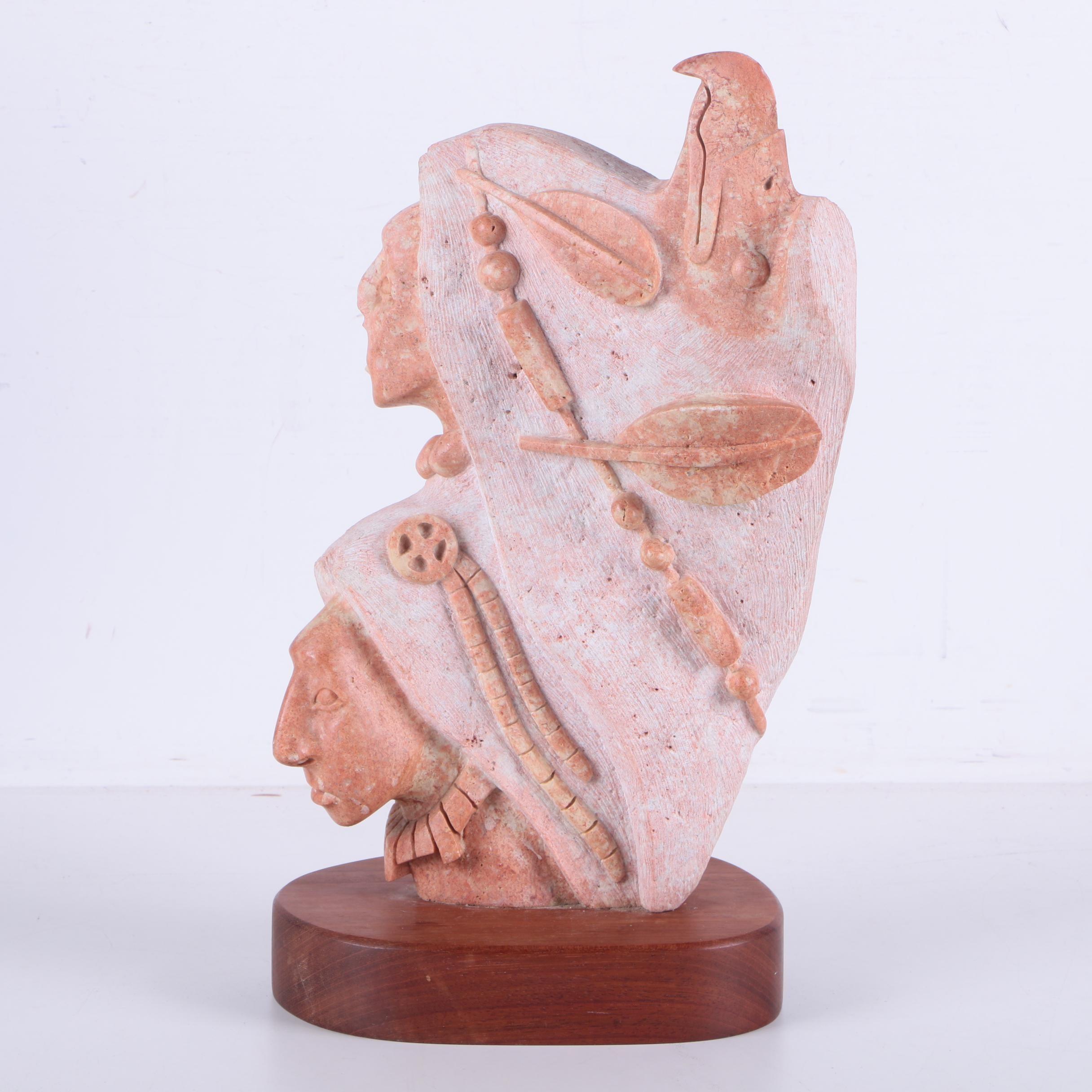 Victor M. Vigil Carved Soapstone Sculpture
