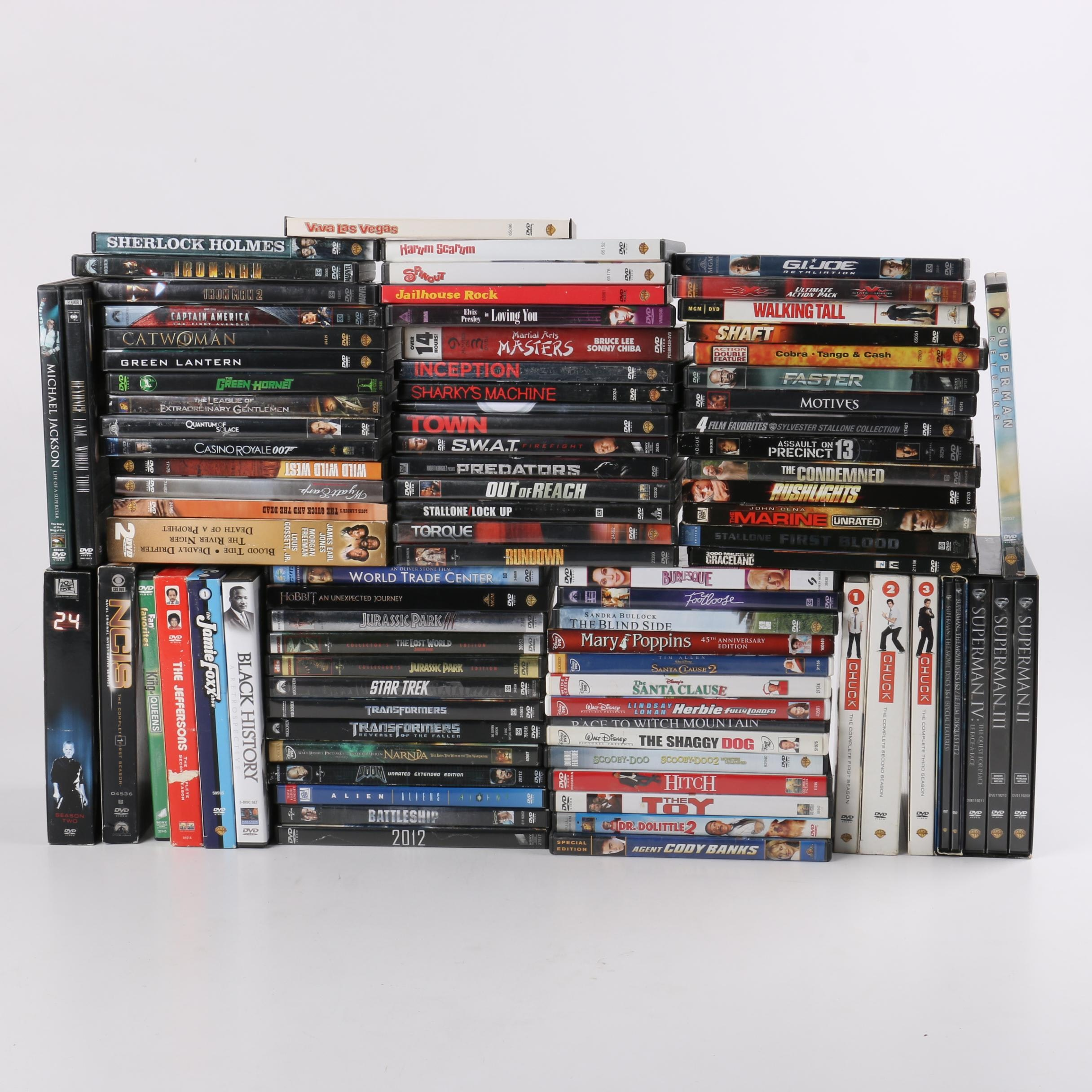Star Trek, Superman and 70 Other DVDs