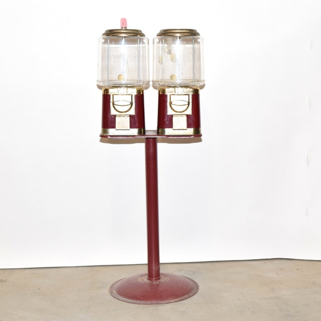 Vintage Double Gumball Machine
