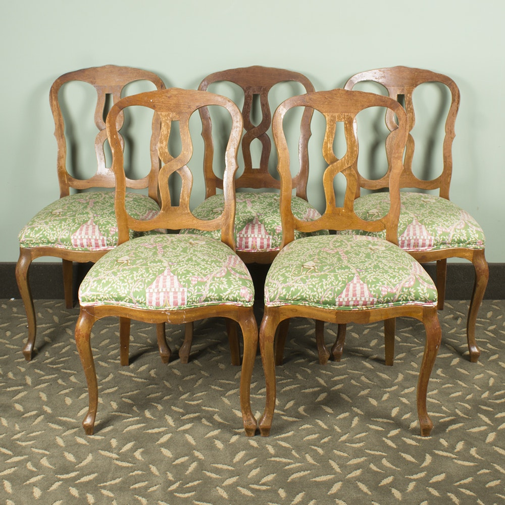 Vintage Wooden Lyre Back Dining Chairs