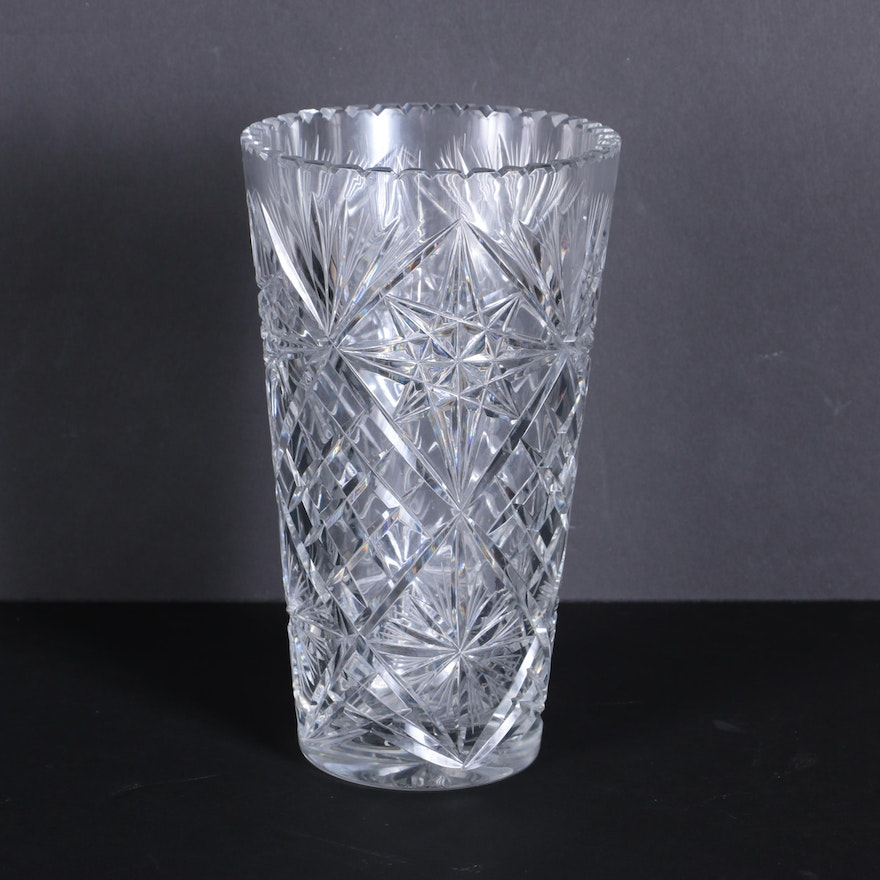 red baccarat vase clear in vases and balustre harcourt large xml