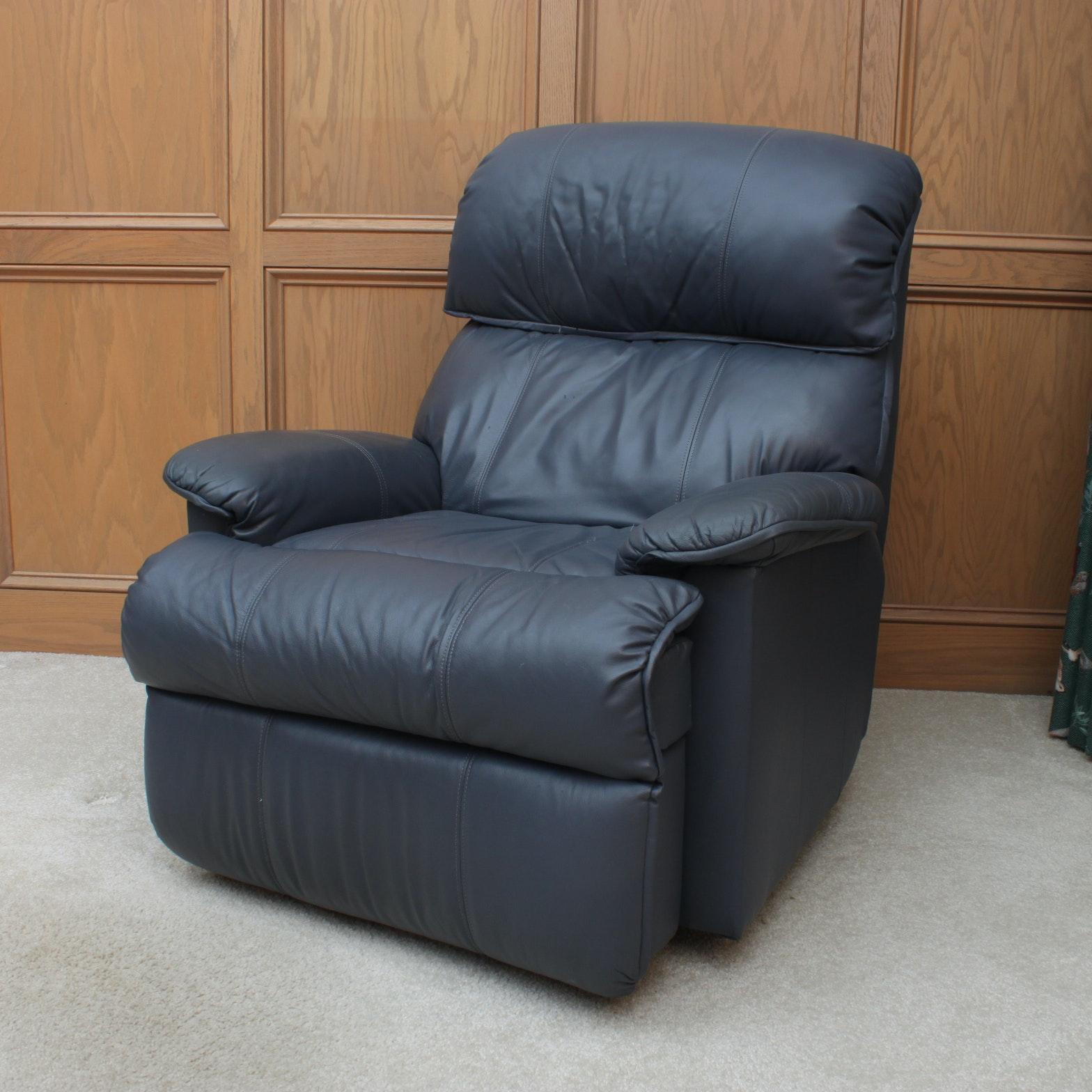 Blue Reclining Armchair