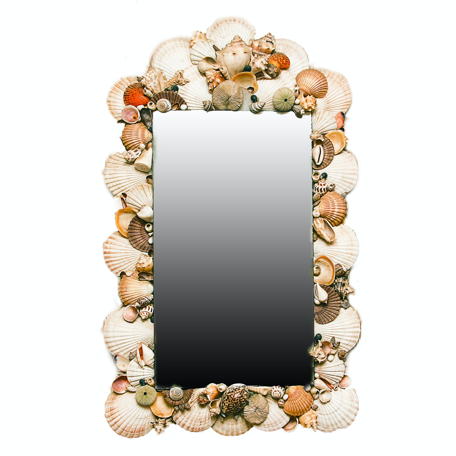 Wall Mirror with Shell Frame