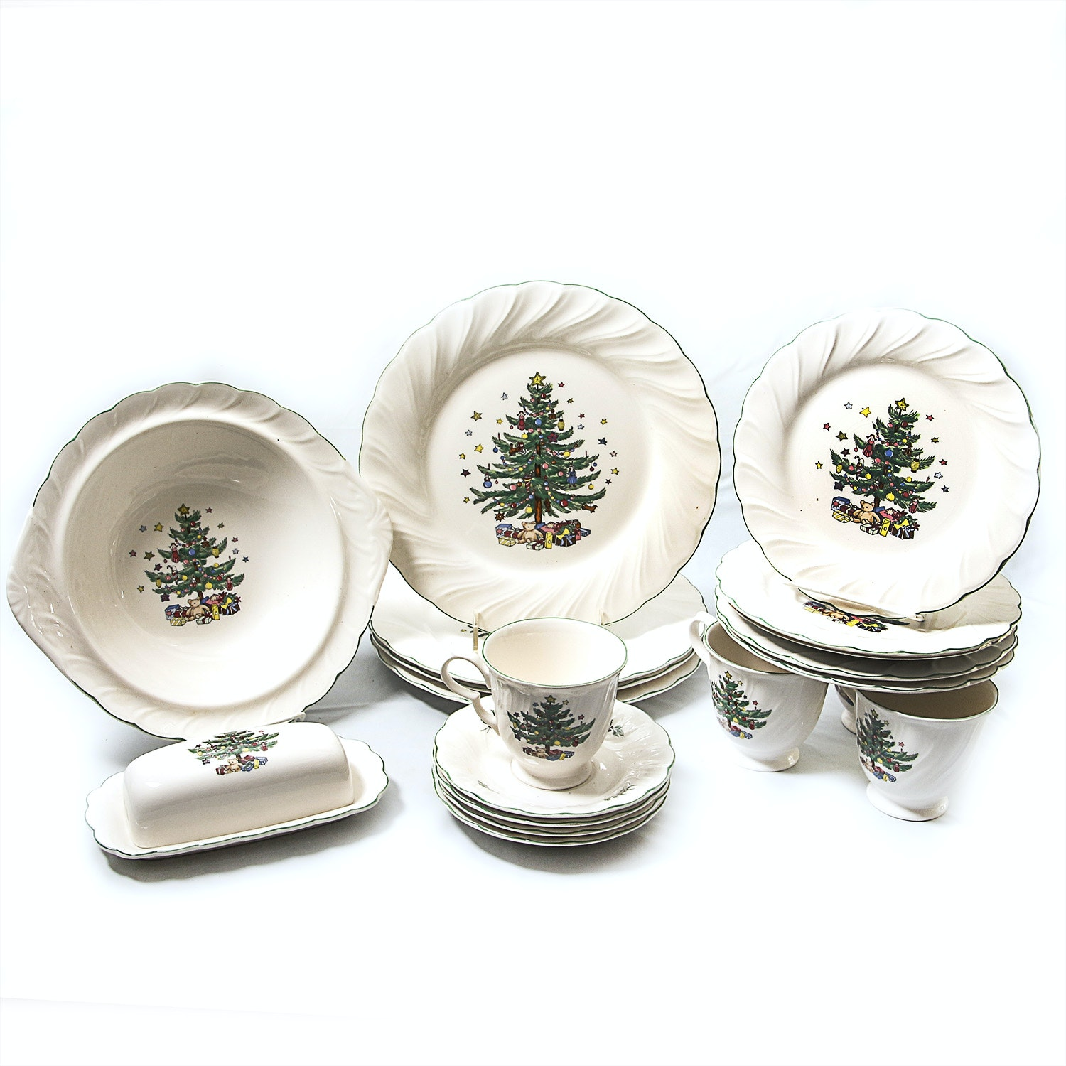 """Collection of Nikko """"Happy Holidays"""" China"""