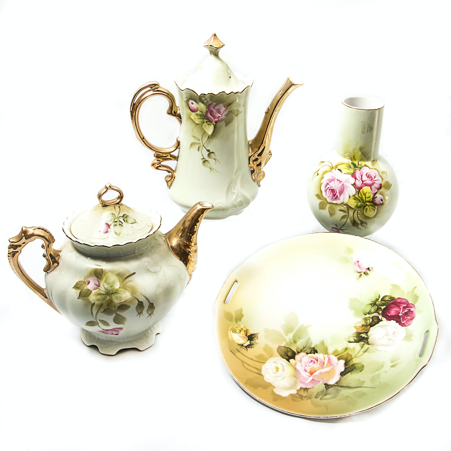 Hand Painted Porcelain Grouping