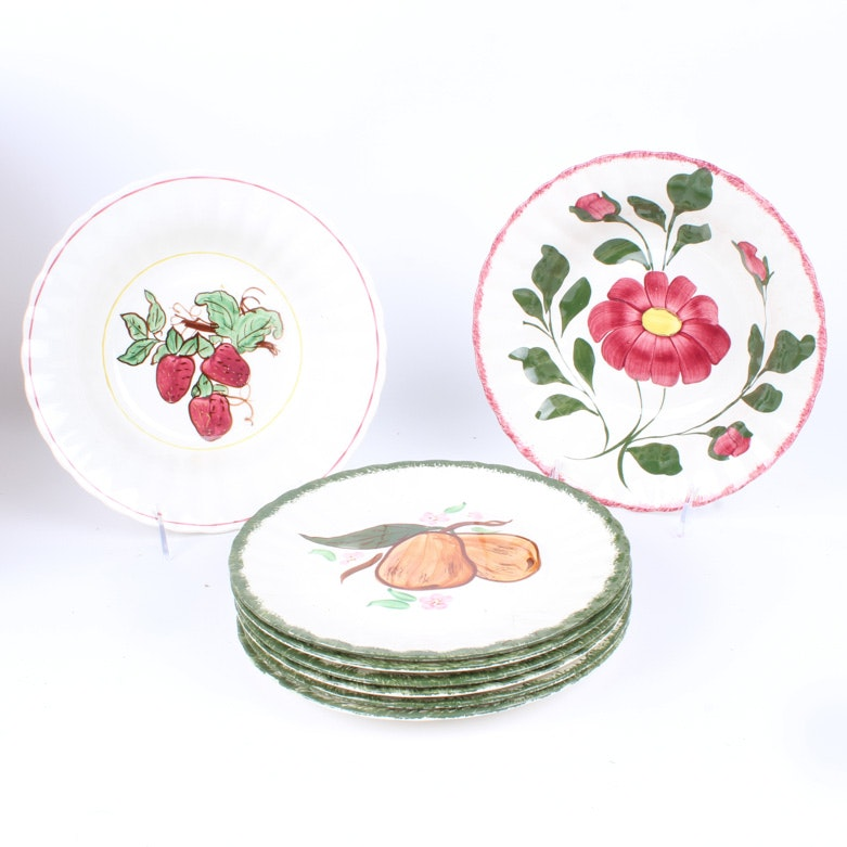 Collection of Blue Ridge Hand-painted Plates