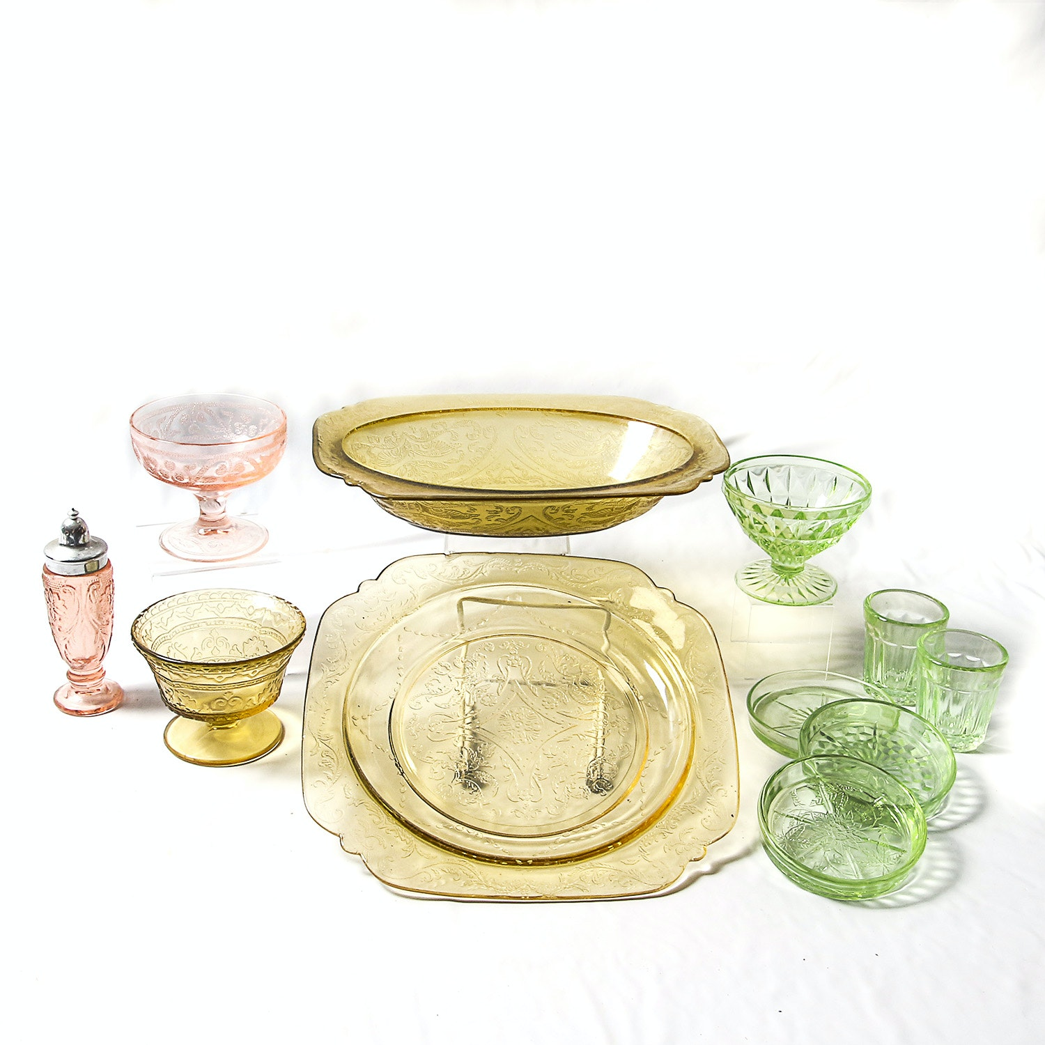 Collection of Depression Glassware