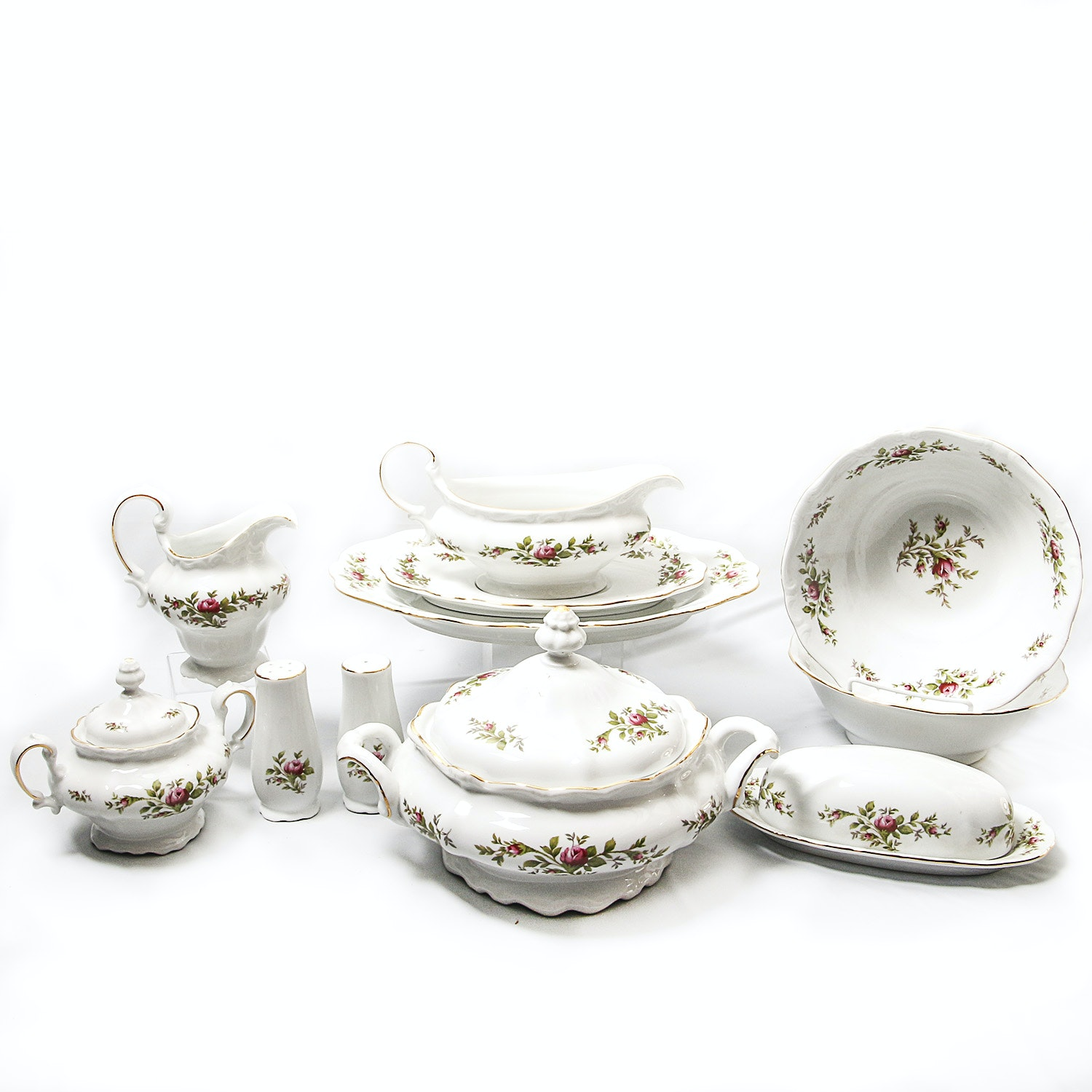 "Traditions Johann Haviland ""Moss Rose"" Serving Pieces"